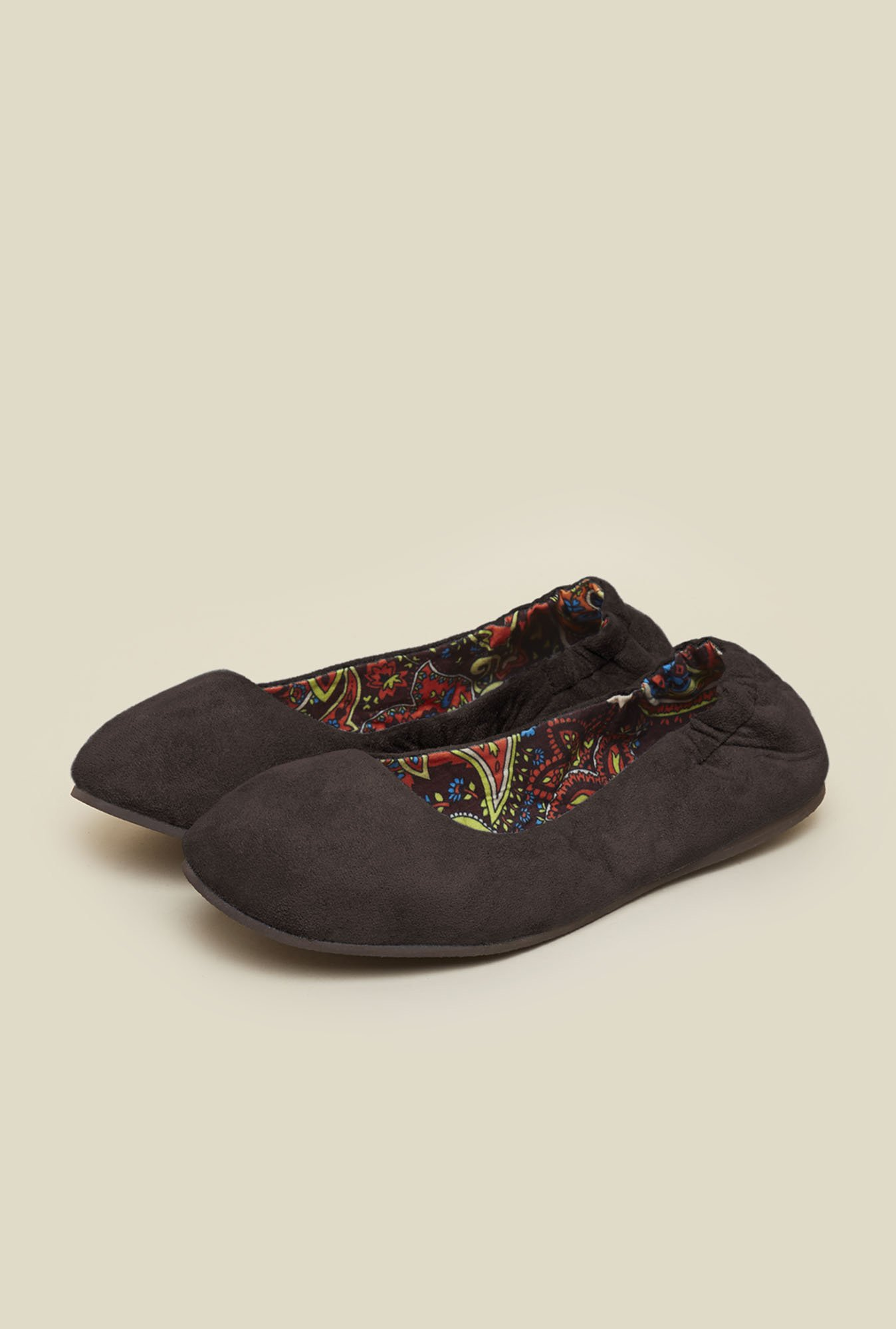 La Briza Brown Flat Ballerinas