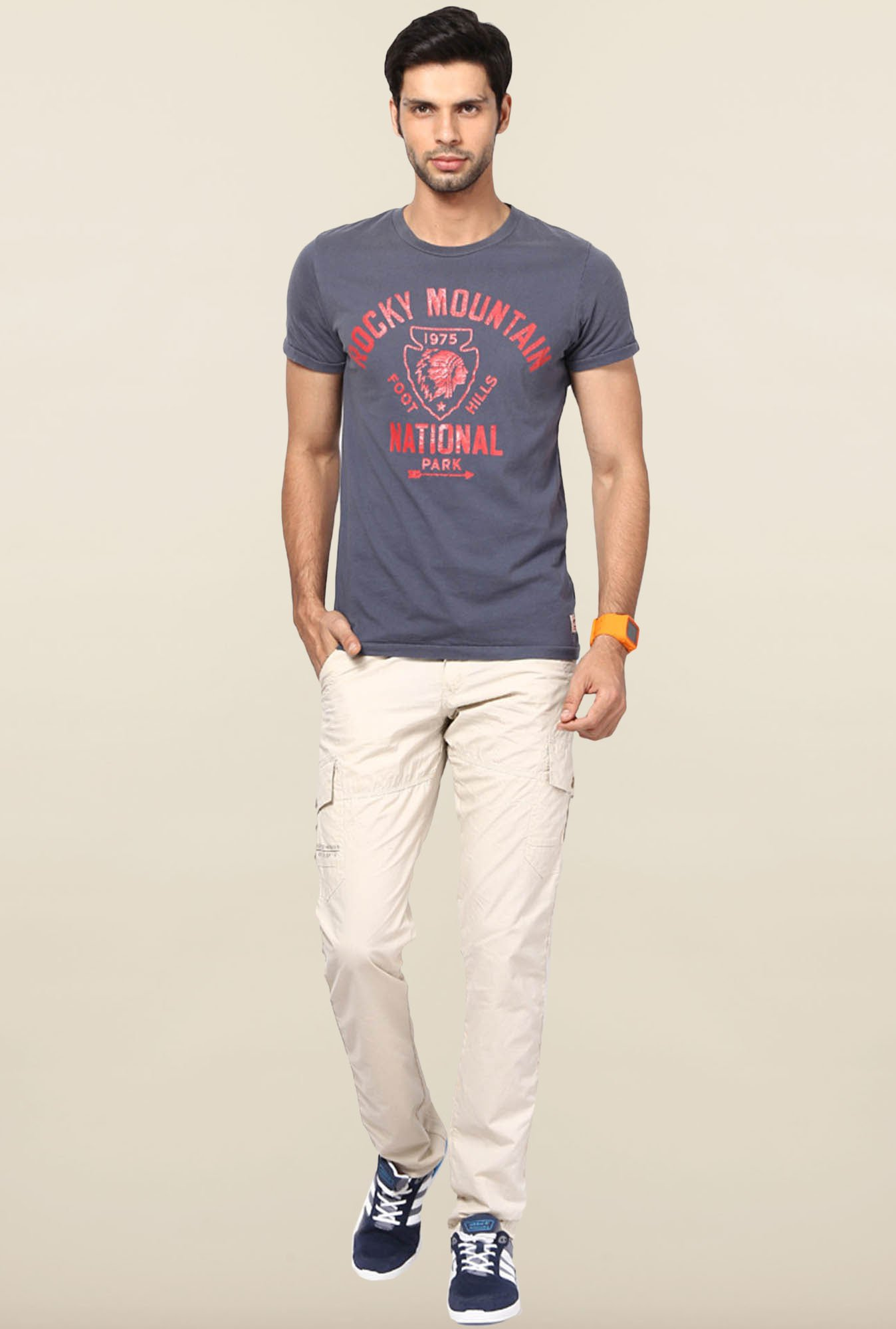 Jack & Jones Blue Crew Neck T-Shirt