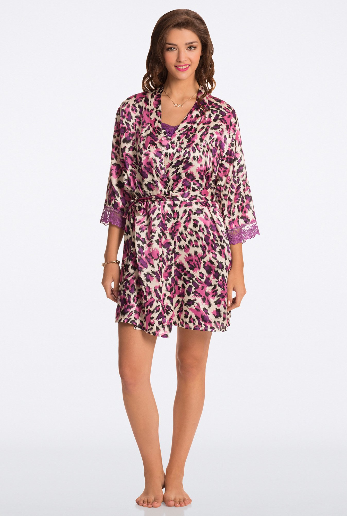 Pretty Secrets Purple Animal Print Robe