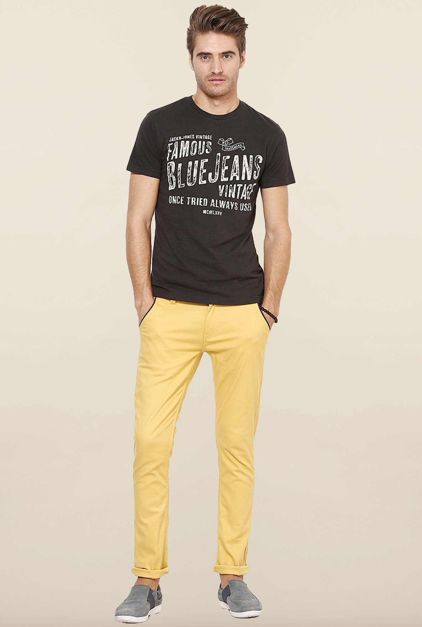 Jack & Jones Black Cotton T-Shirt