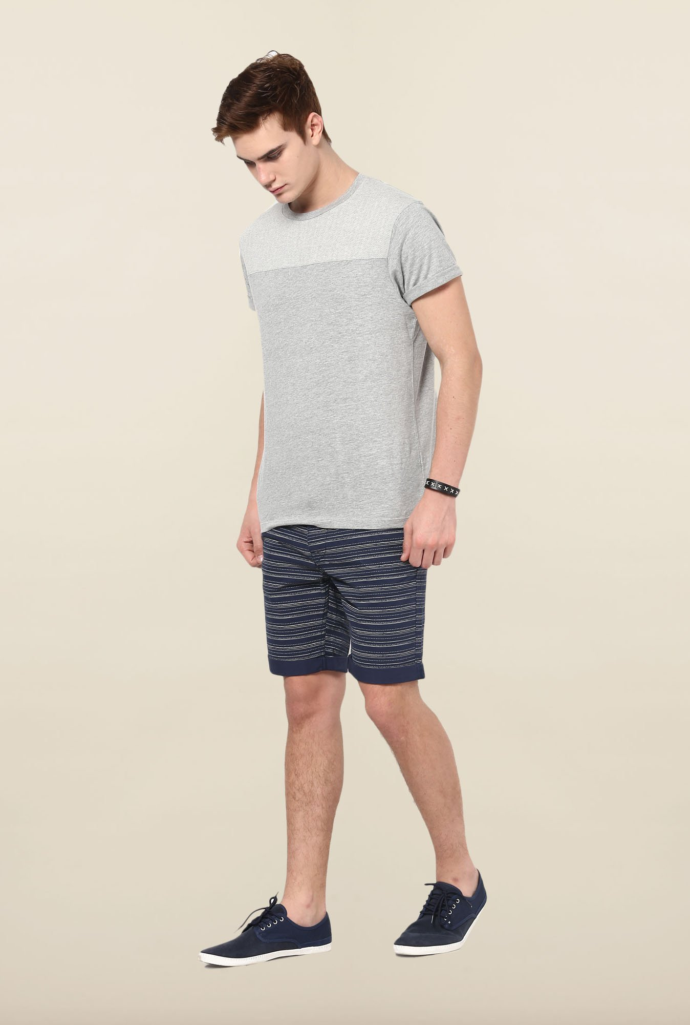 Jack & Jones Navy Pin Stripes Shorts