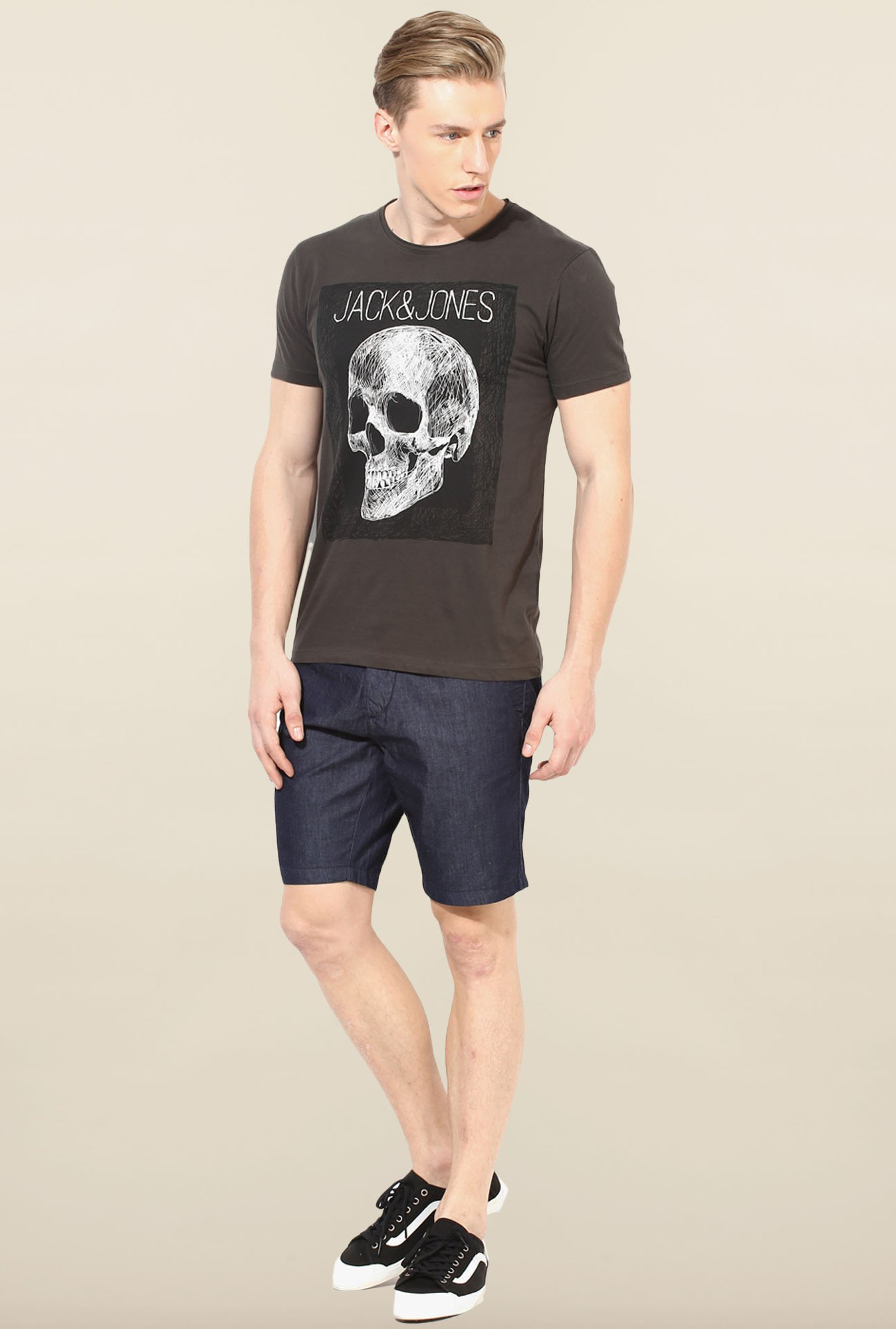 Jack & Jones Navy Solid Shorts
