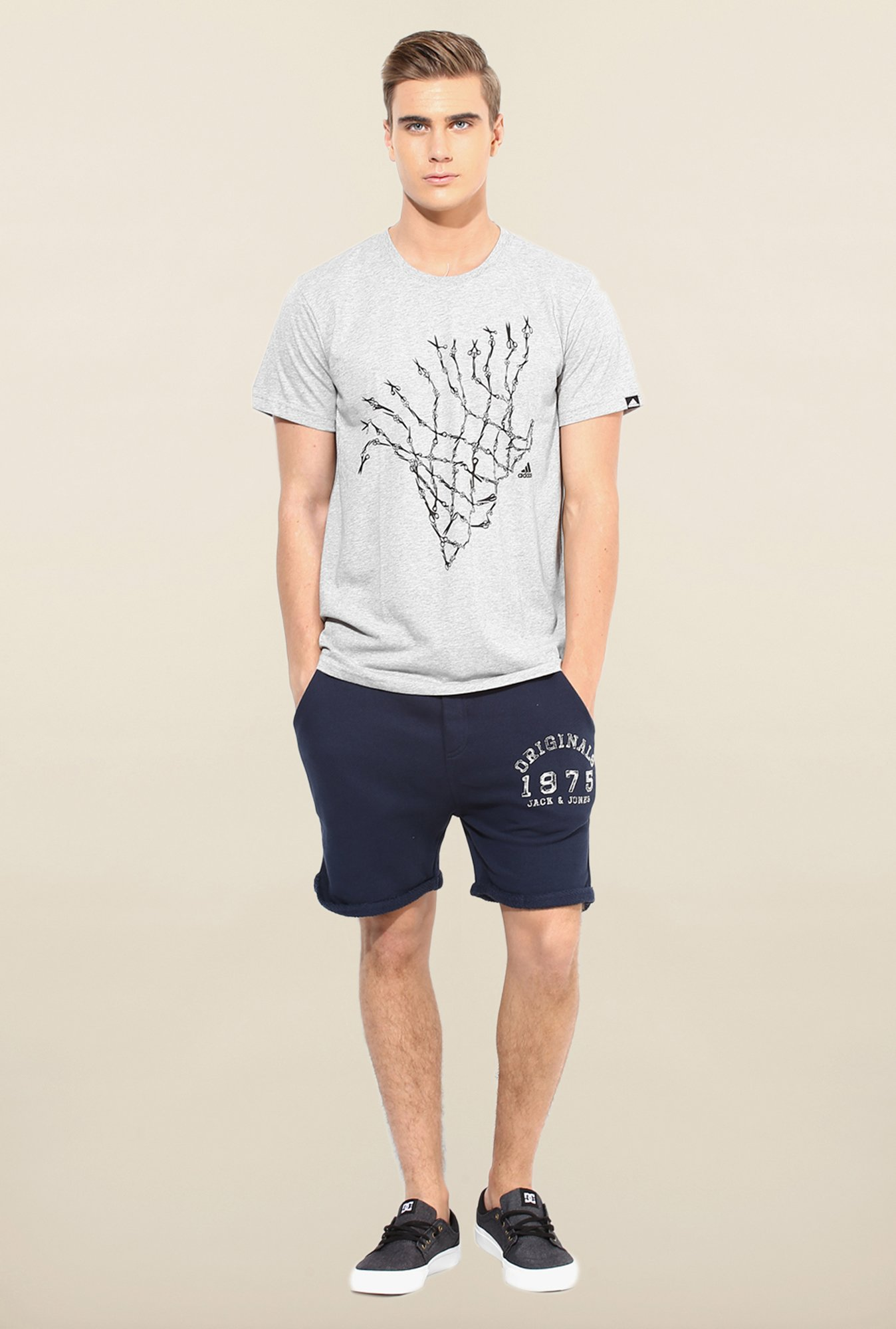 Jack & Jones Navy Printed Shorts