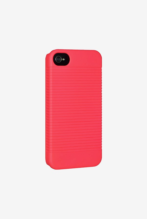 Amzer Snap On Case Neon Coral for iPhone 4