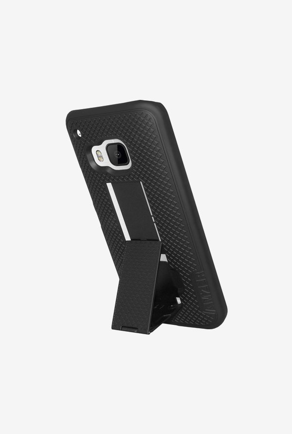 Amzer Snap On Case with Kickstand Black for HTC One M9