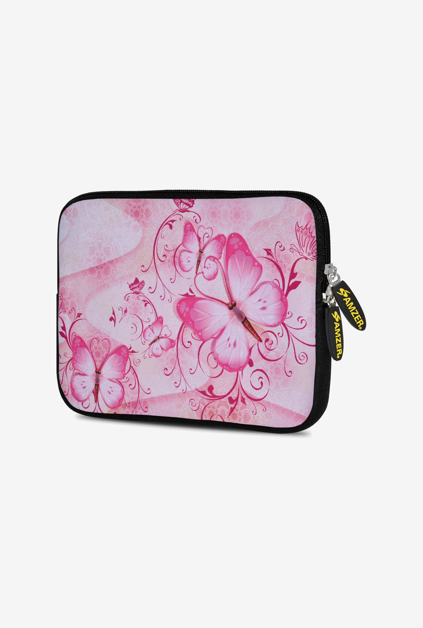 Amzer 10.5 Inch Neoprene Sleeve - Pinkspray Butterfly
