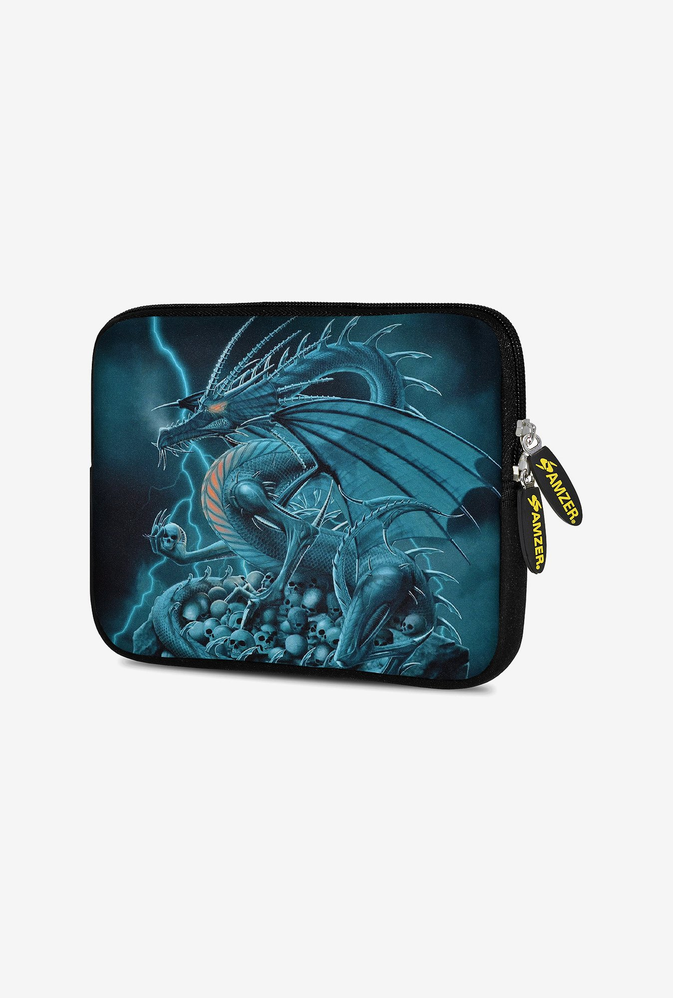 Amzer 10.5 Inch Neoprene Sleeve - Teal Dragon
