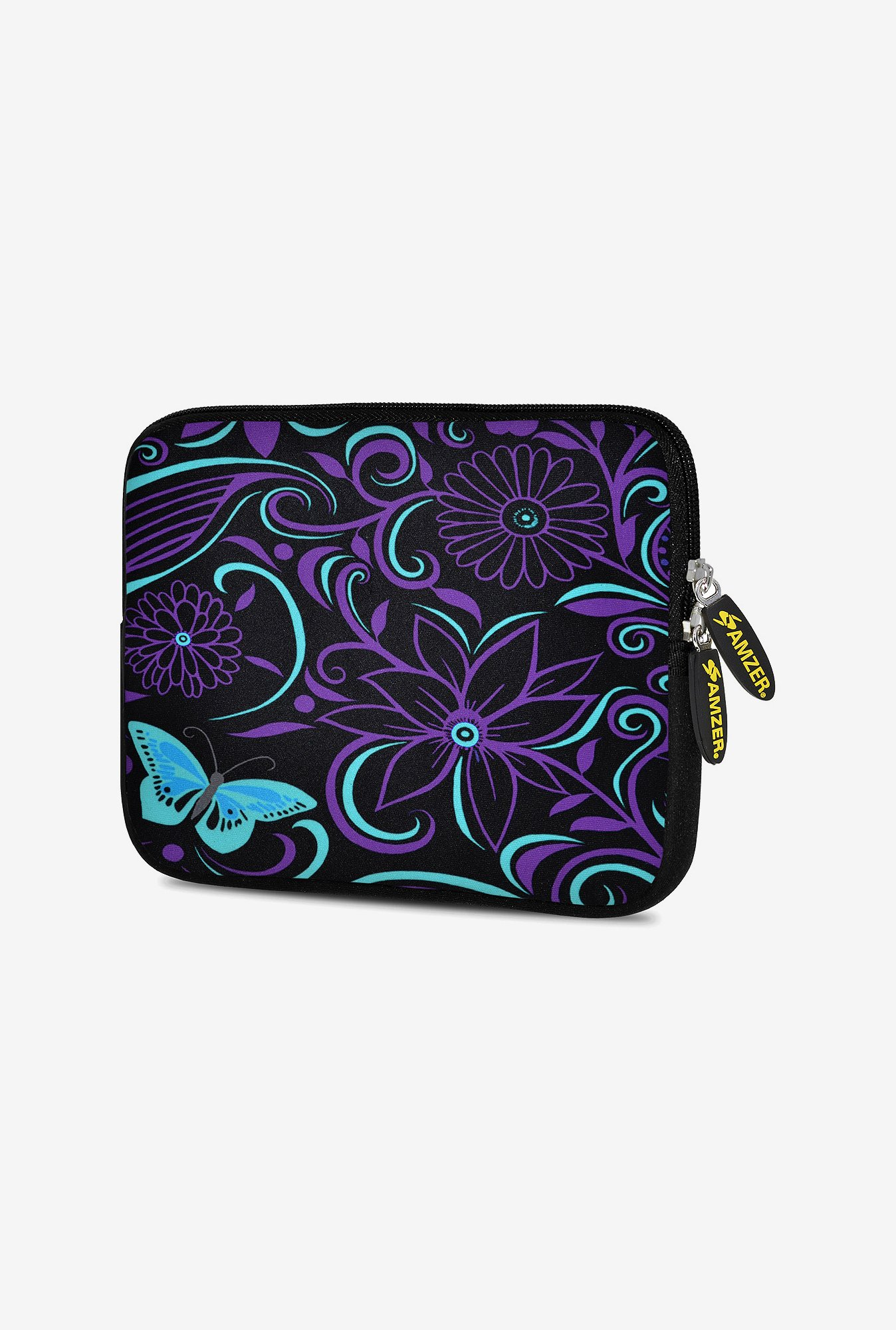 Amzer 10.5 inch Neoprene Sleeve - Turquoise Purple Fly