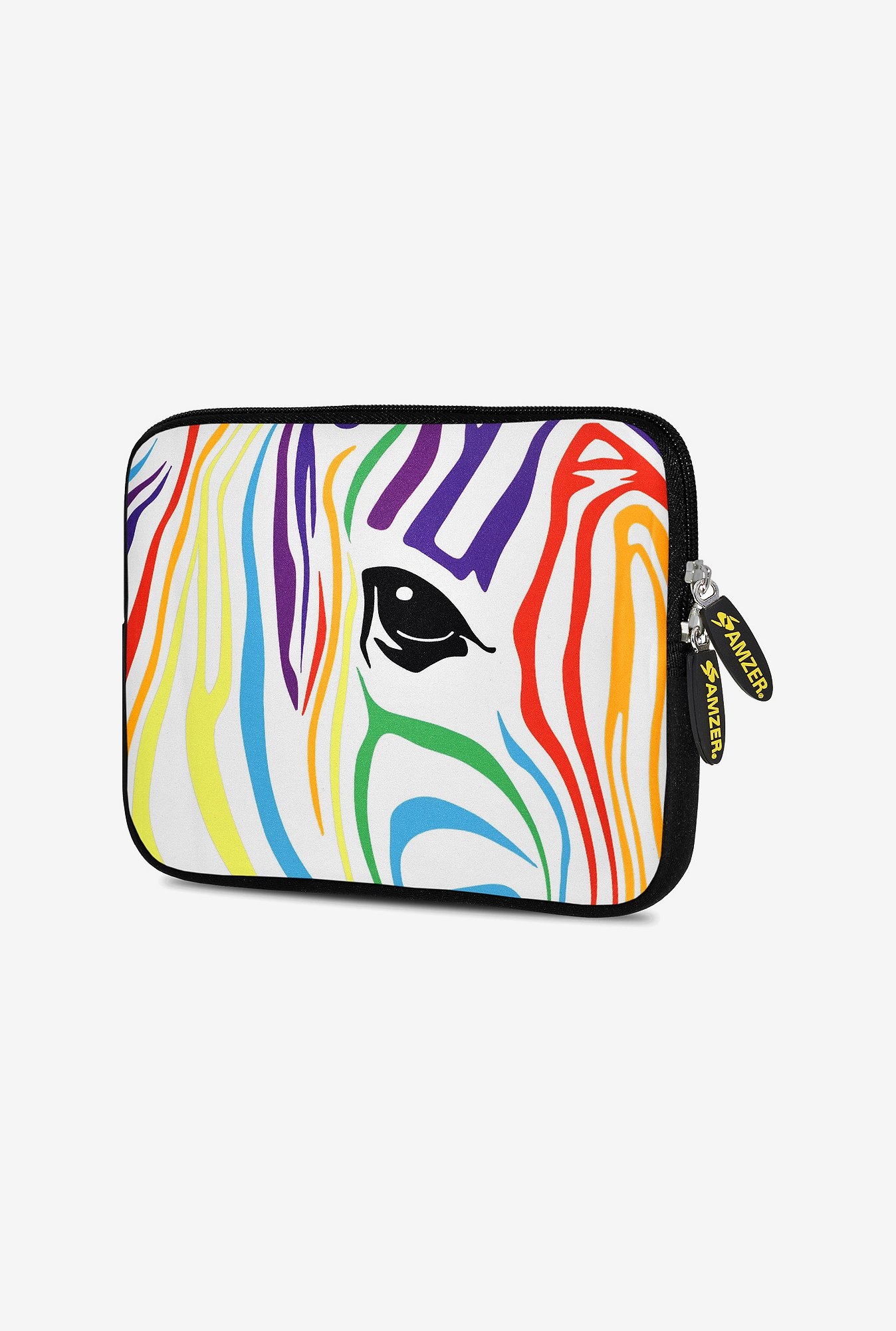 Amzer 10.5 Inch Neoprene Sleeve - Zebra Colour Stripes