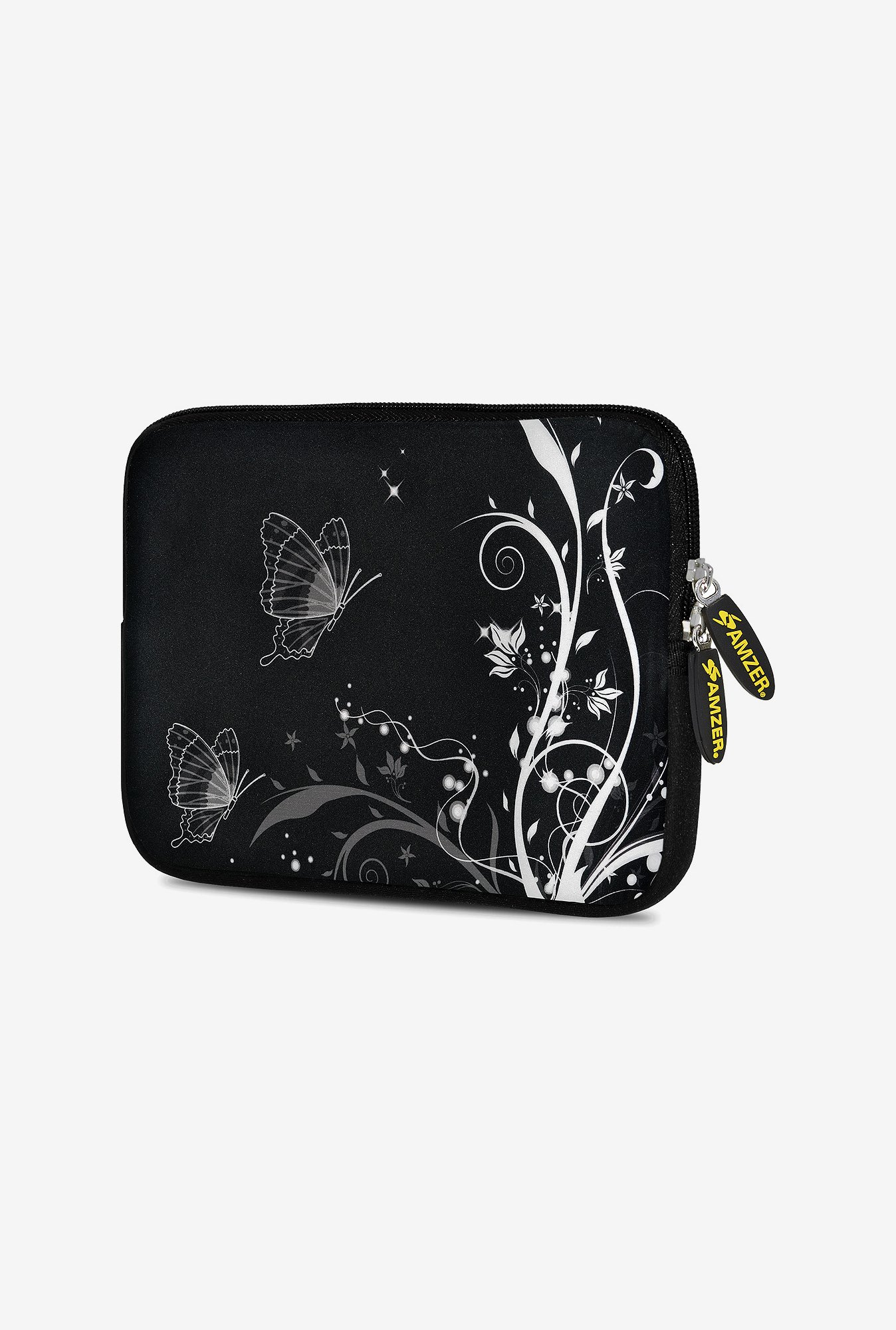Amzer 10.5 Inch Neoprene Sleeve - Black Butterfly