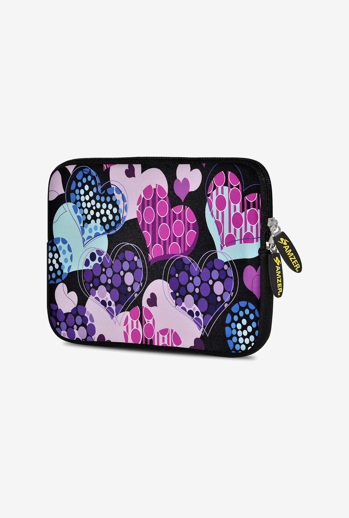 Amzer 7.75 Inch Neoprene Sleeve - Pattern Heart