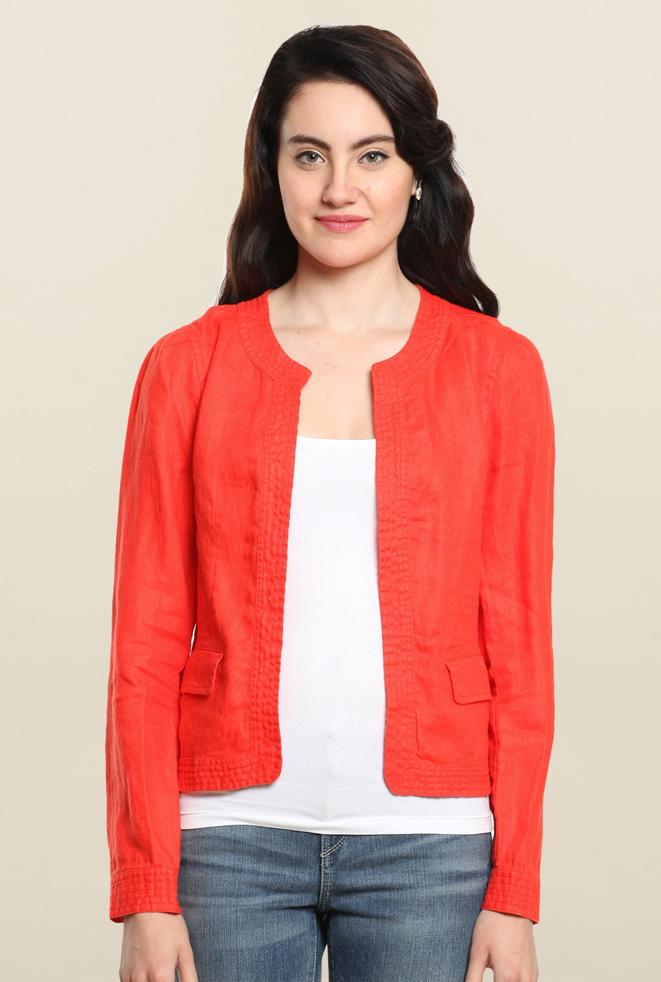 Cottonworld Grenadine Solid Jacket