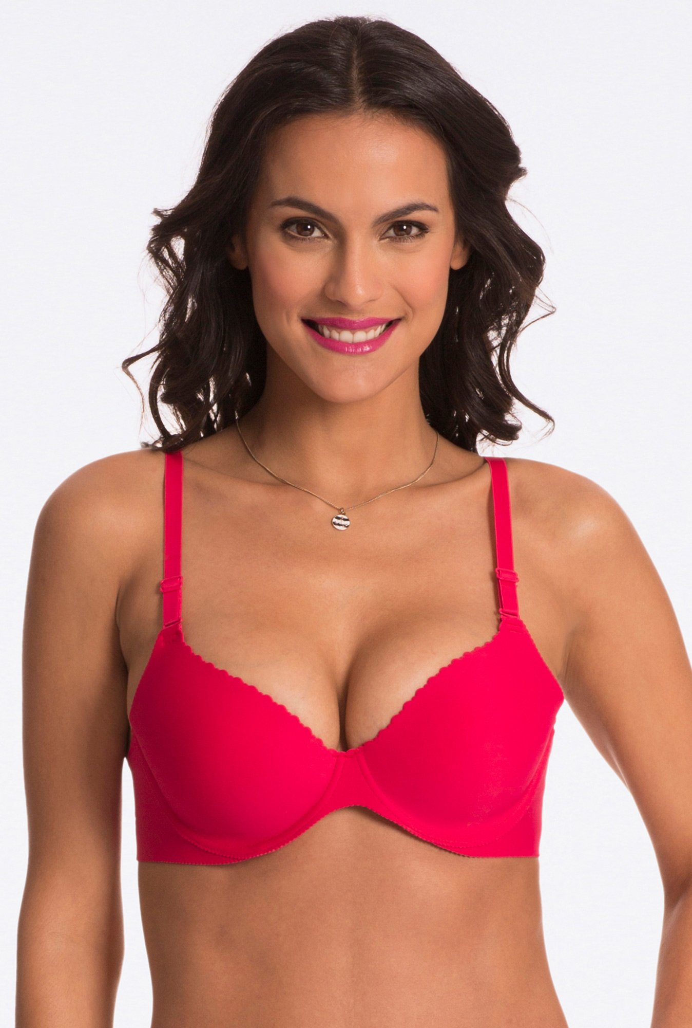 Pretty Secrets Red Under-Wired Padded Bra