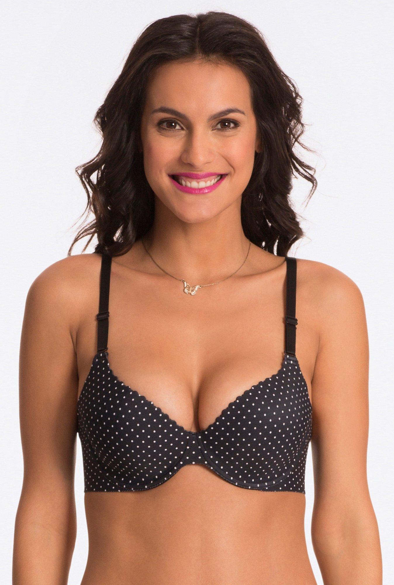 Pretty Secrets Black Polka Dot Under-Wired Bra