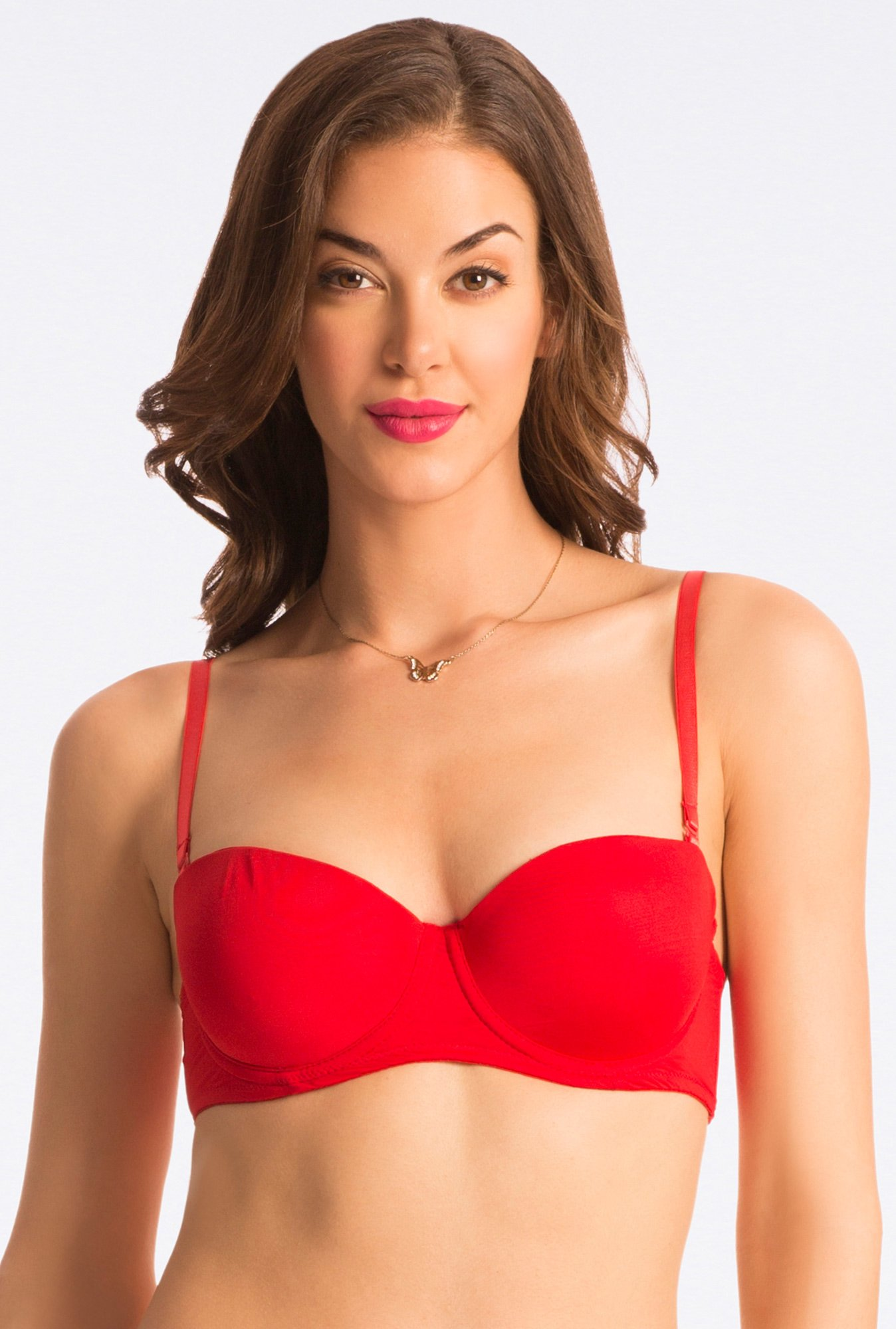 Pretty Secrets Red Under-Wired Convertible Bra
