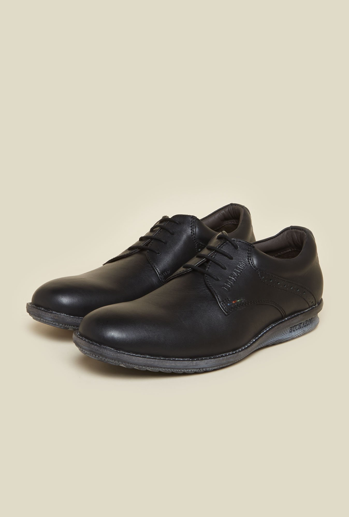 Buckaroo Fernando Black Derby Shoes