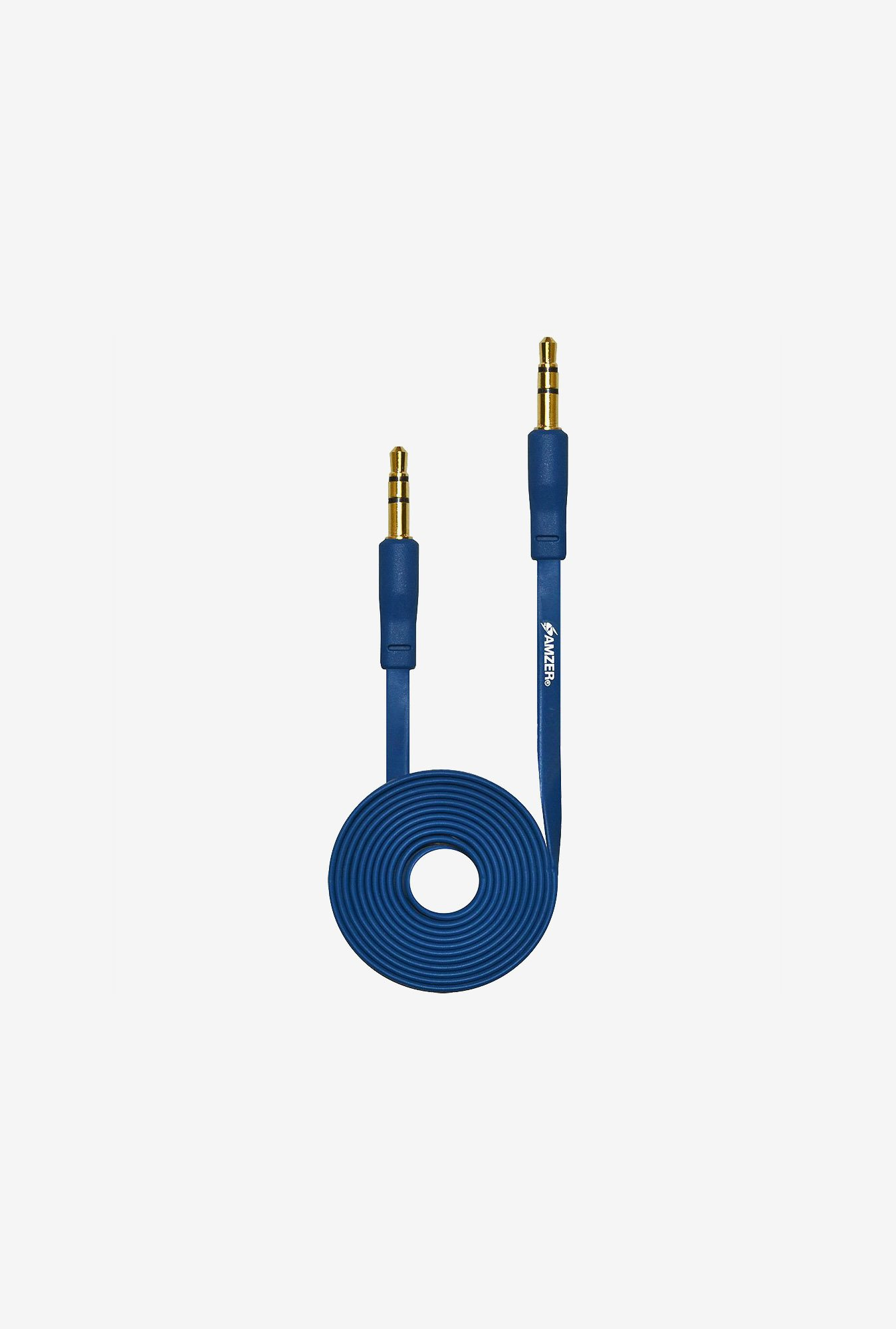 Amzer 3.5mm Auxiliary Audio Cable (3ft.) Blue