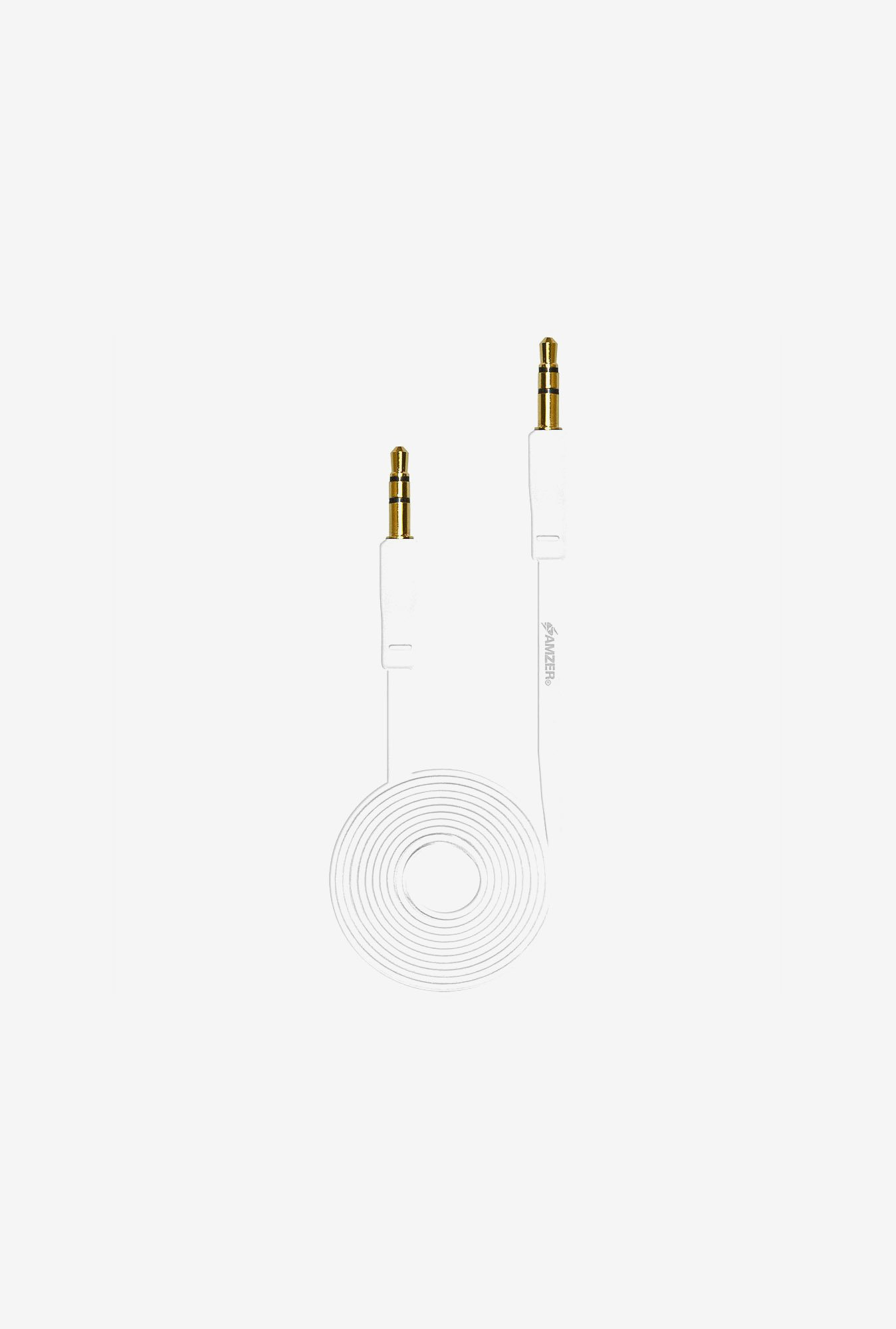 Amzer 3.5mm Auxiliary Audio Cable (3ft.) White