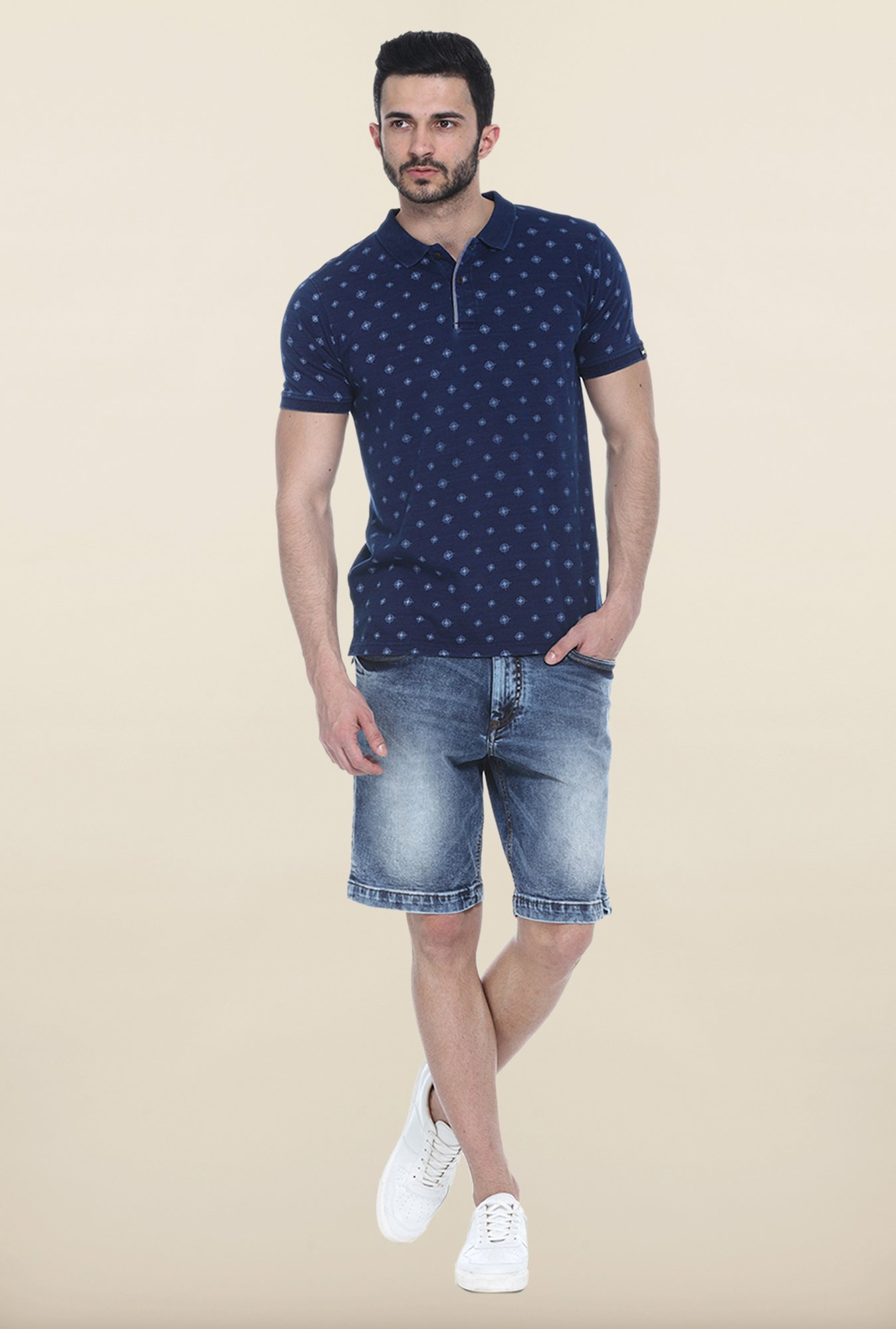 Basics Navy Blue Polo T-Shirt