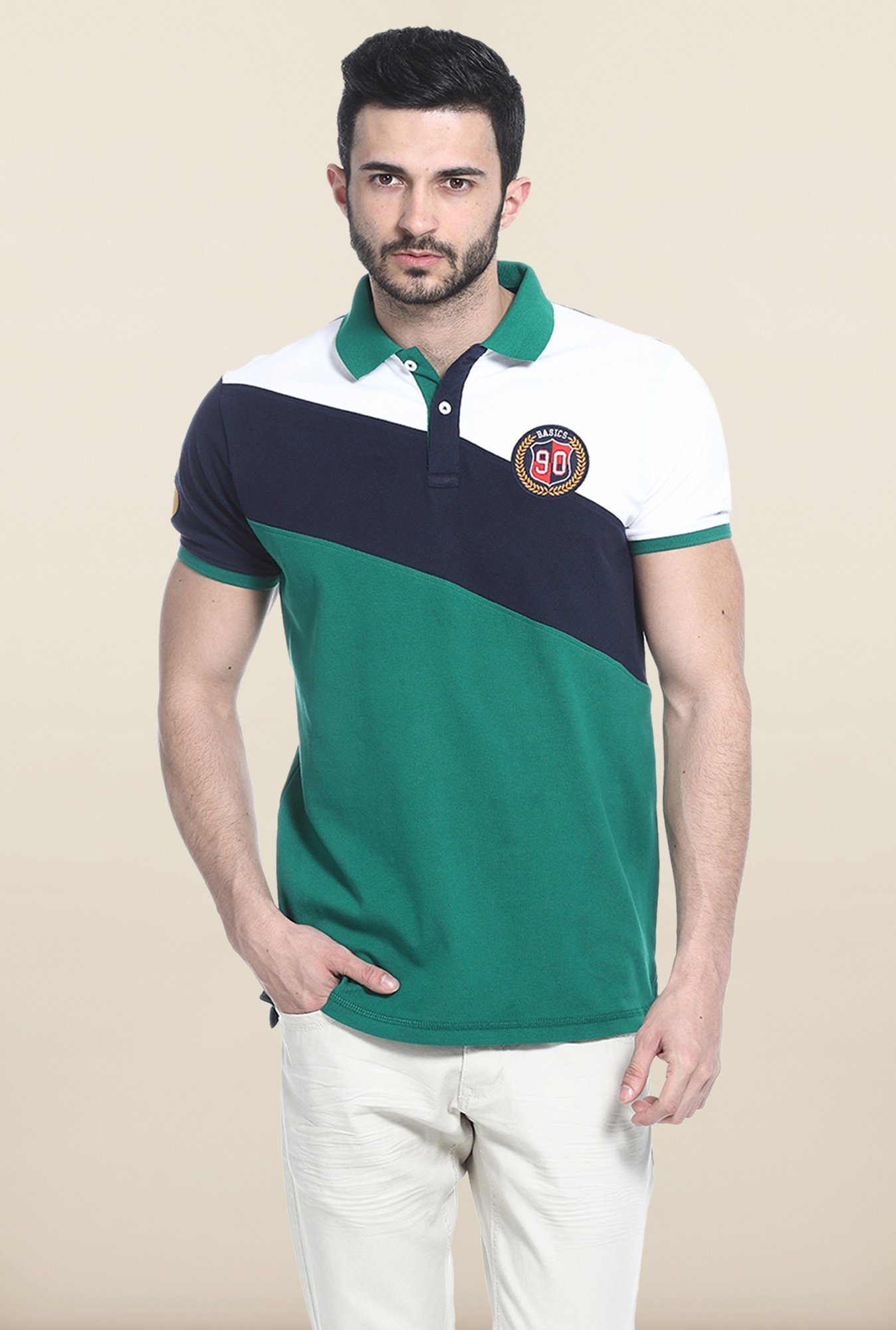 Basics Green Polo T-Shirt