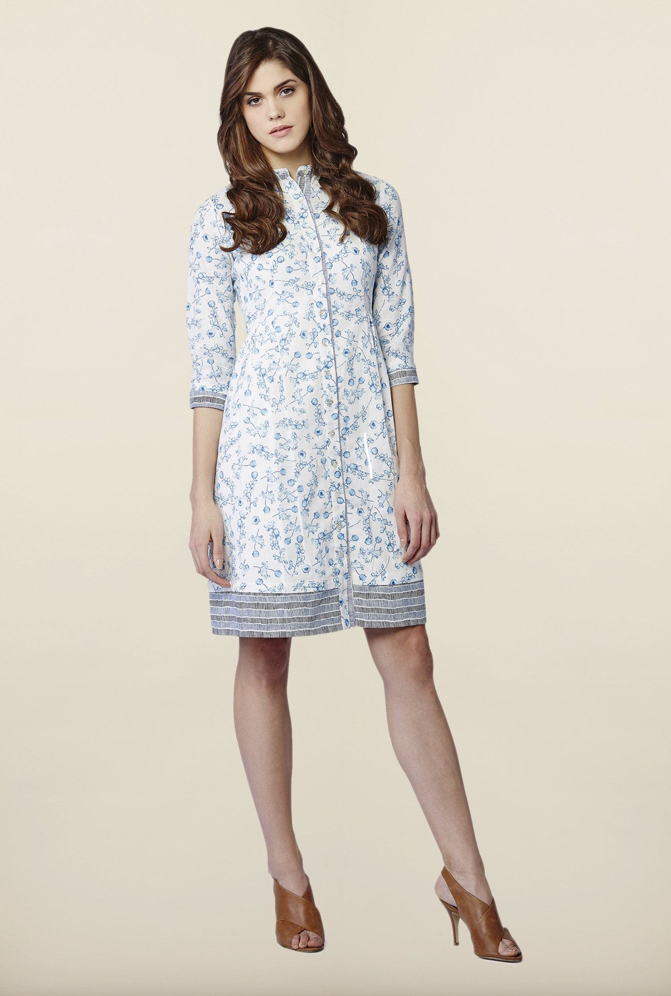 AND Off-White Printed Casual Dress