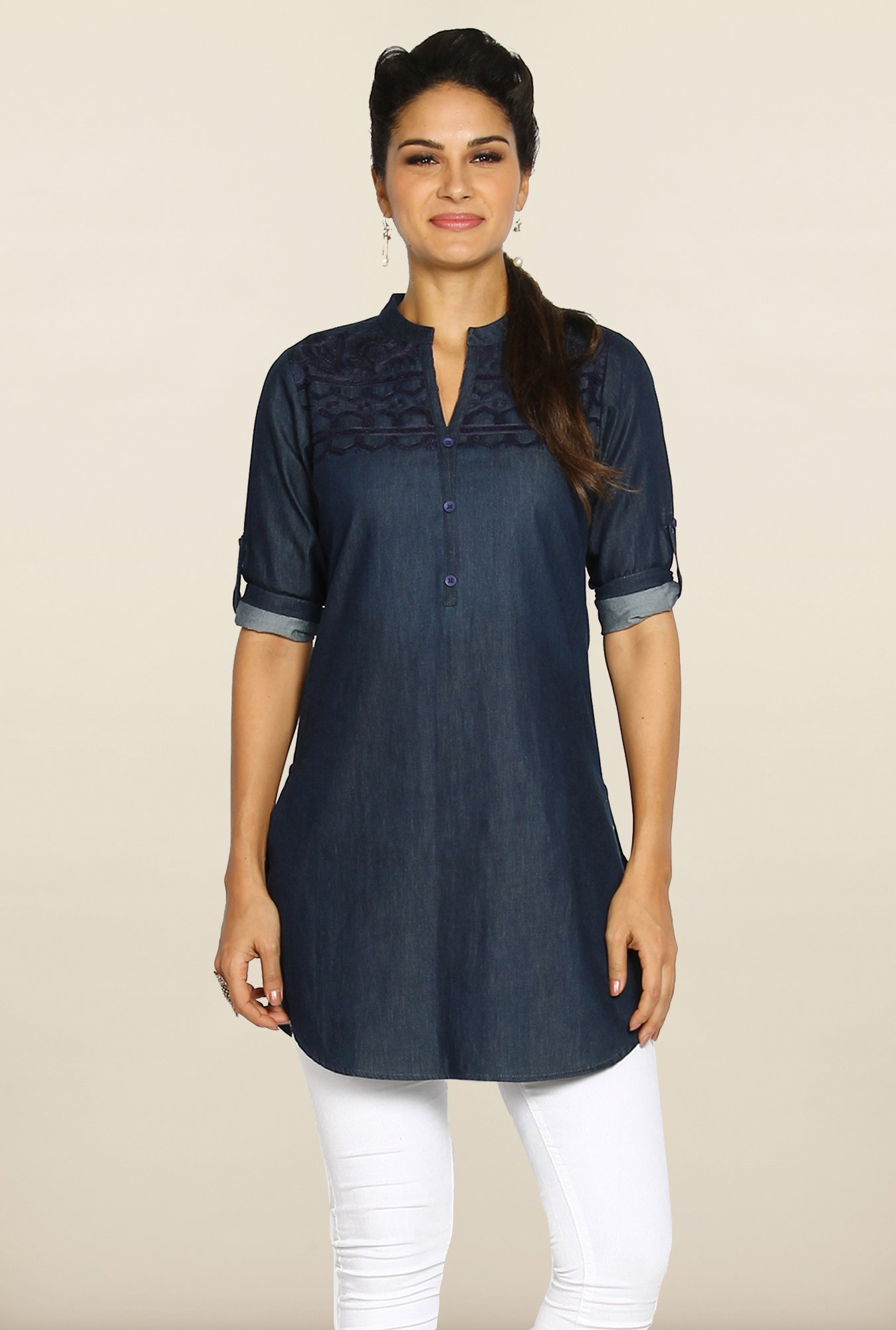 Soch Indigo Denim Tunic