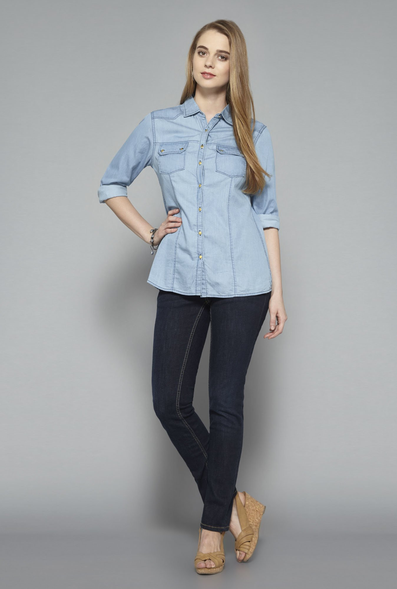L.O.V Light Blue Blouse