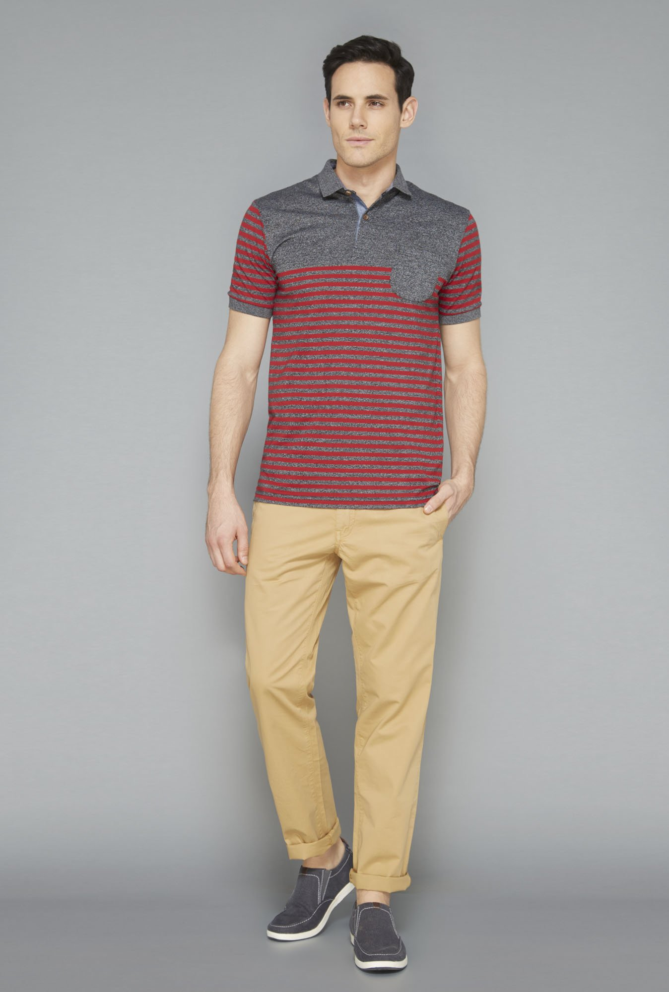 Westsport Mens Red Striped T-Shirt