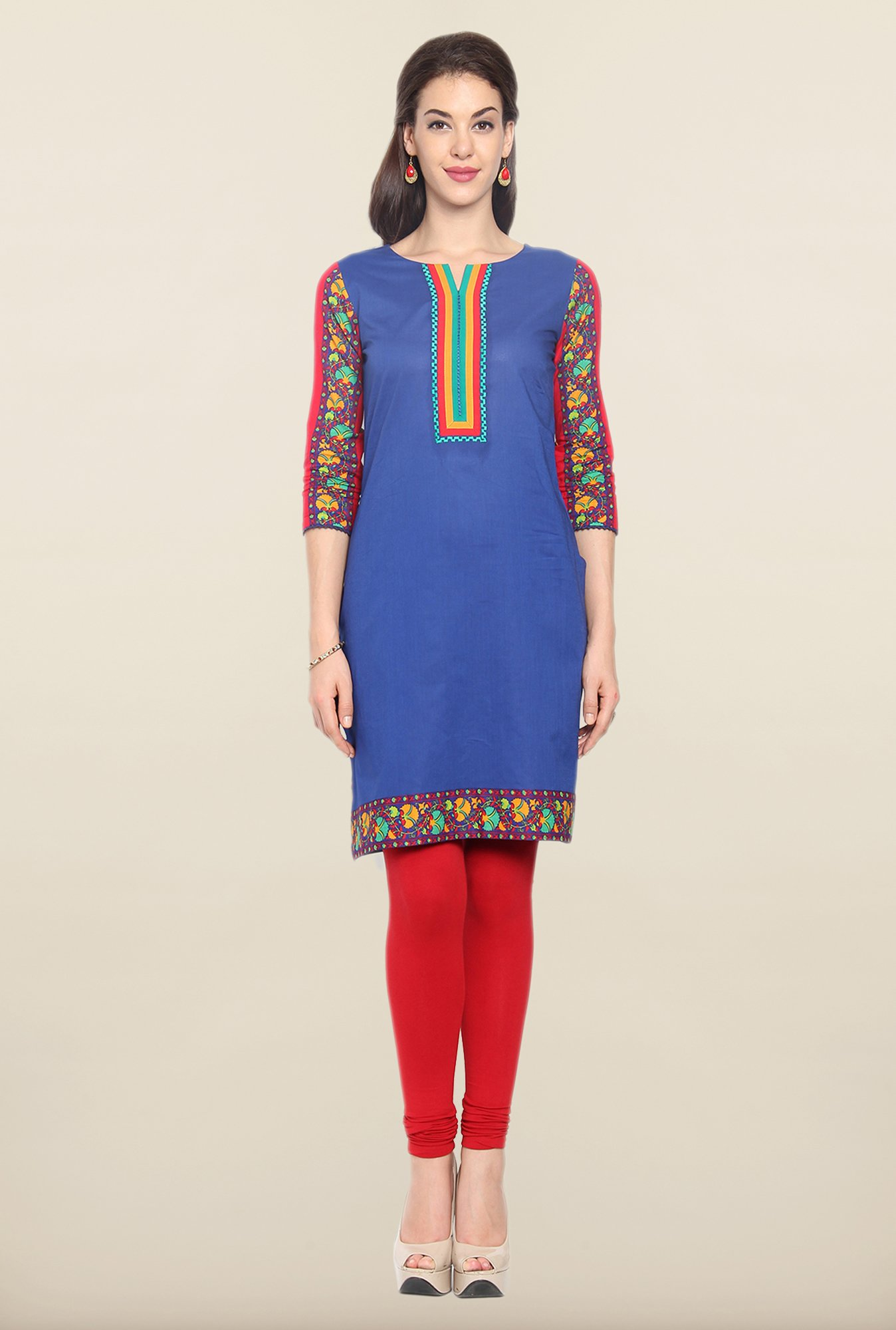Soch Royal Blue Cotton Kurti