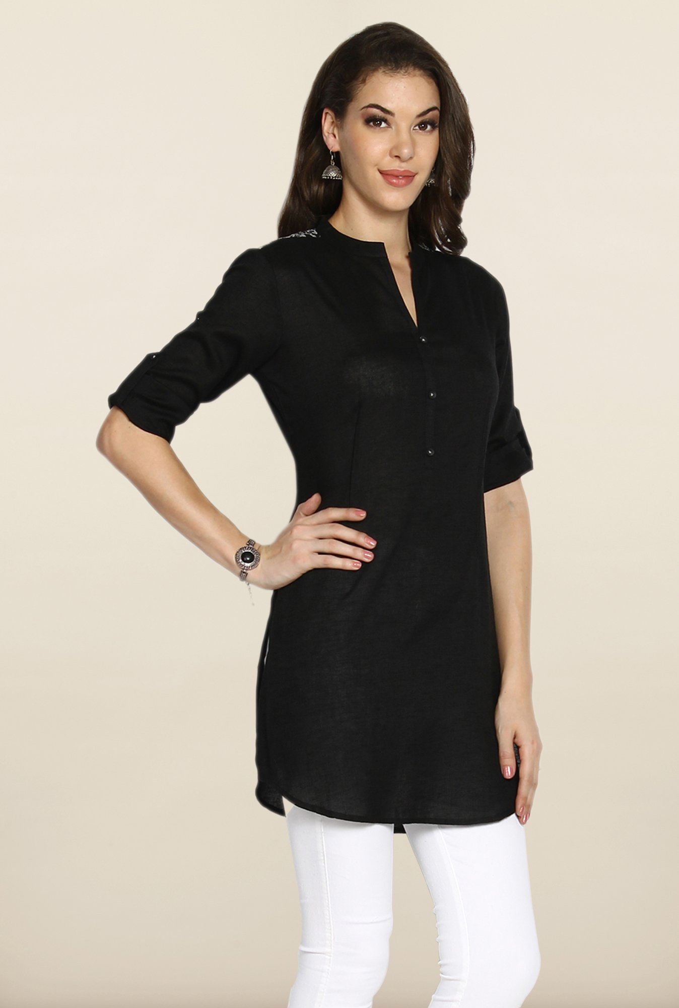 Soch Black Linen Tunic