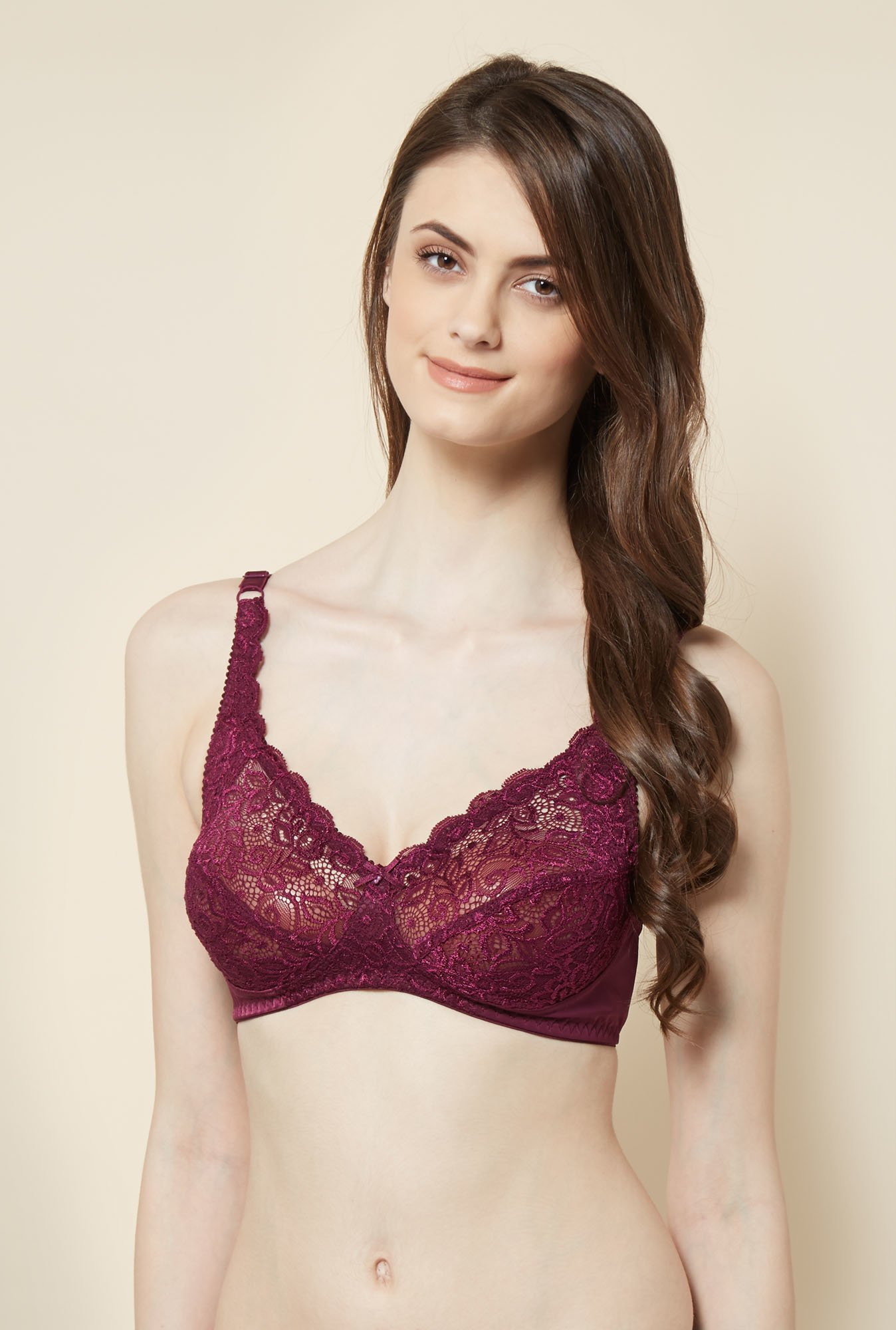 Little Lacy Wine Lace Bra