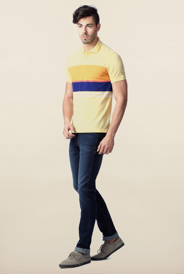 Peter England Yellow Polo T-Shirt