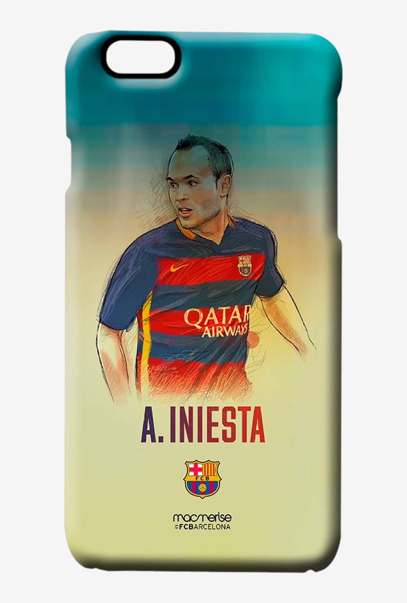 Macmerise Illustrated Iniesta Pro Case for iPhone 6S