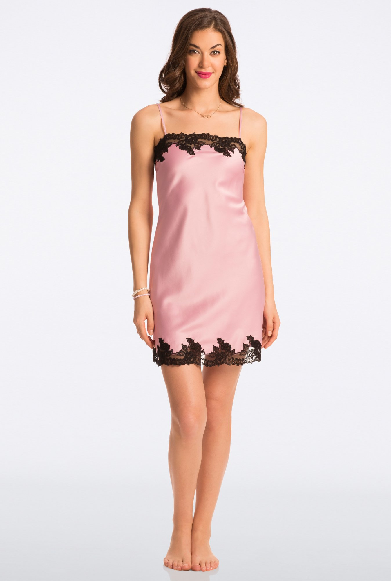 Pretty Secrets Pink Solid Chemise