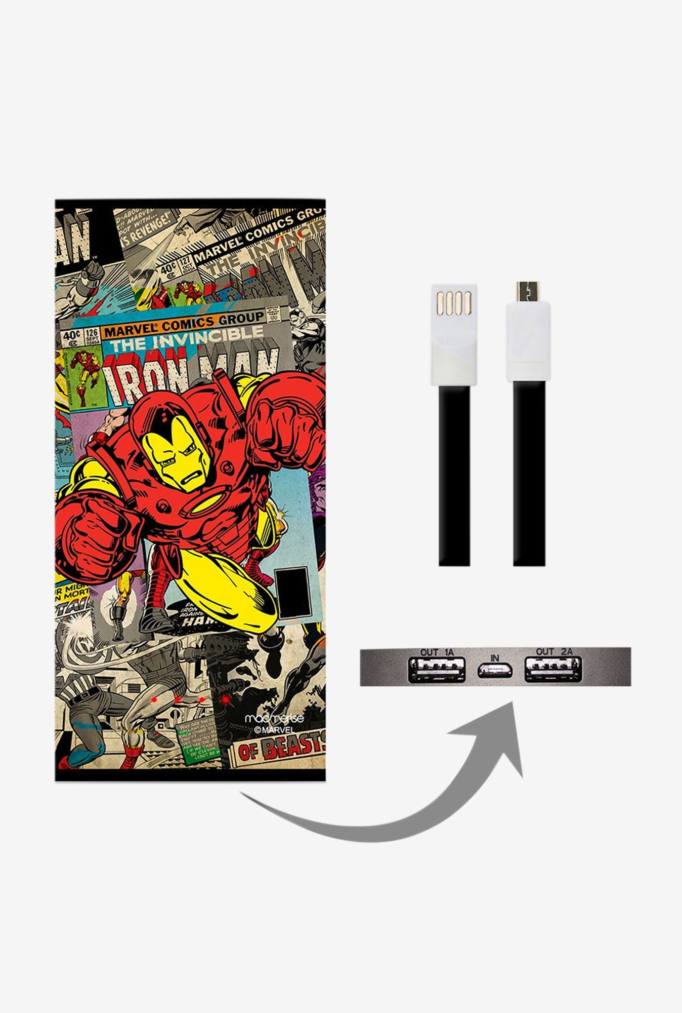 Macmerise Comic Ironman 8000 mAh Universal Power Bank