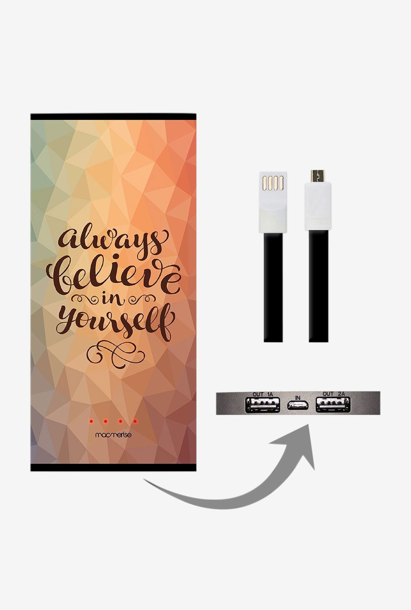 Macmerise Believe In Yourself 8000 mAh Universal Power Bank