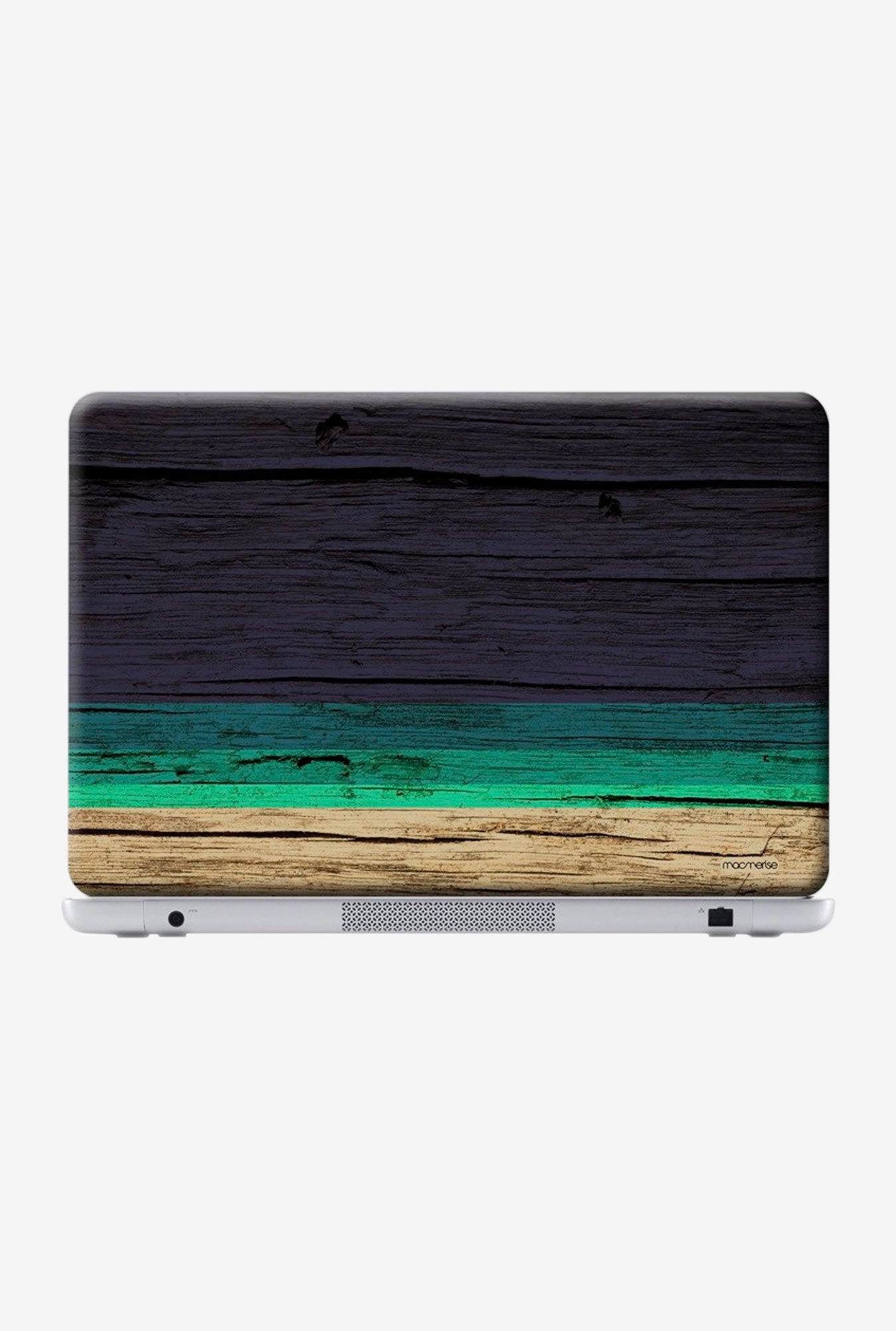 "Macmerise Wood Stripes Blue Skin for 14"" Laptops"