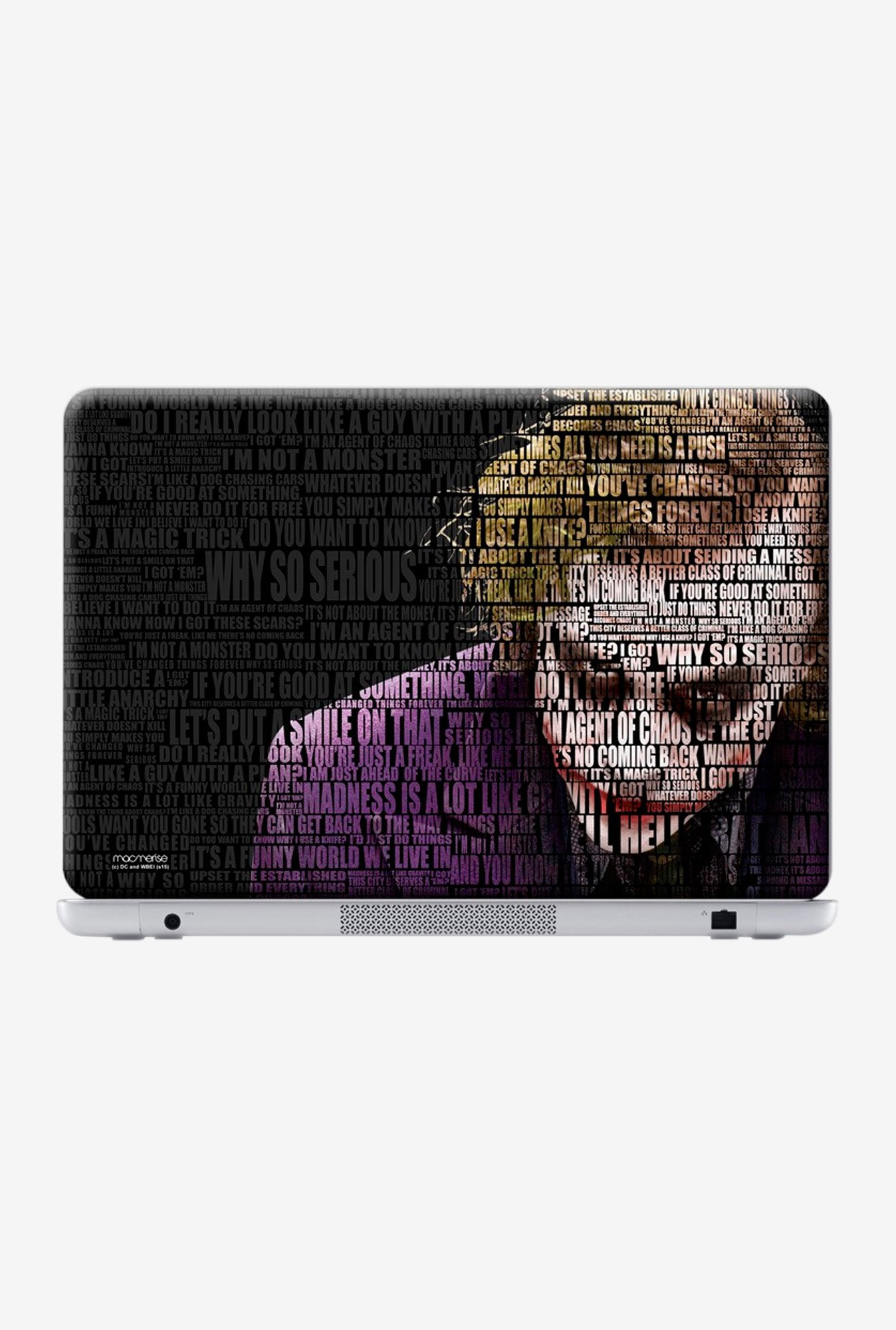 "Macmerise Joker Quotes Skin for 13"" Laptops"