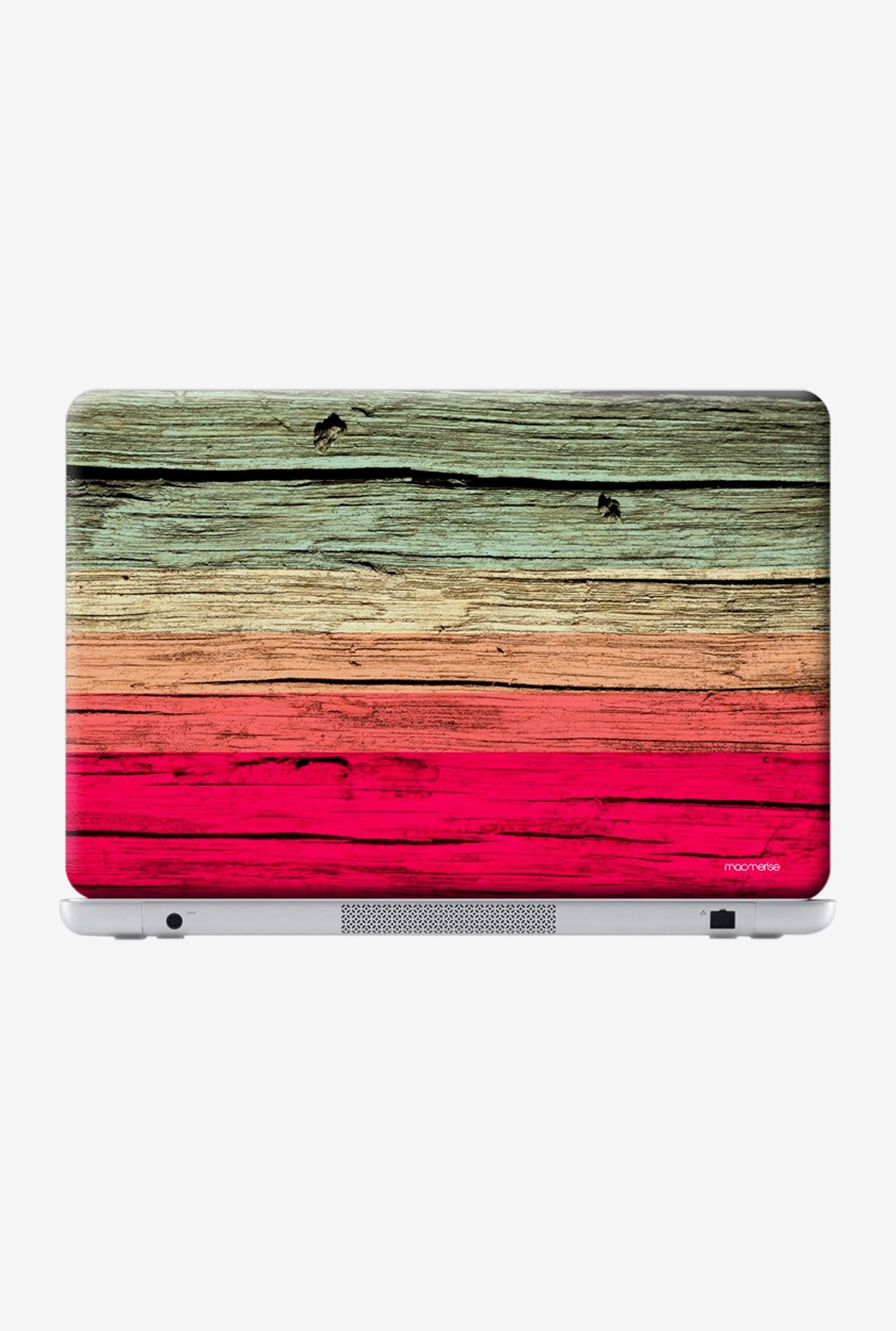 "Macmerise Wood Stripes Fuschia Skin for 13"" Laptops"