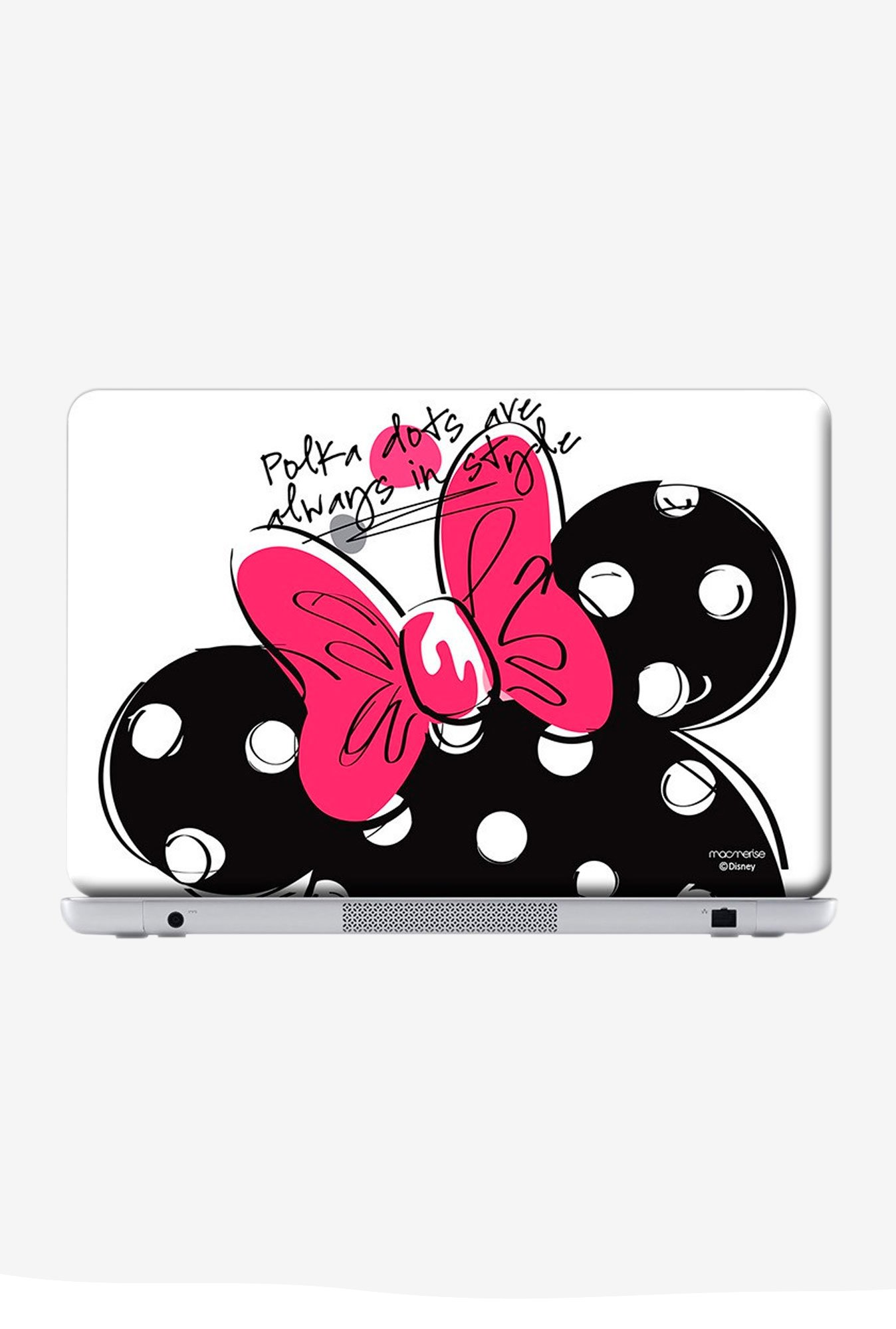 "Macmerise Polka Minnie Skin for 13"" Laptops"