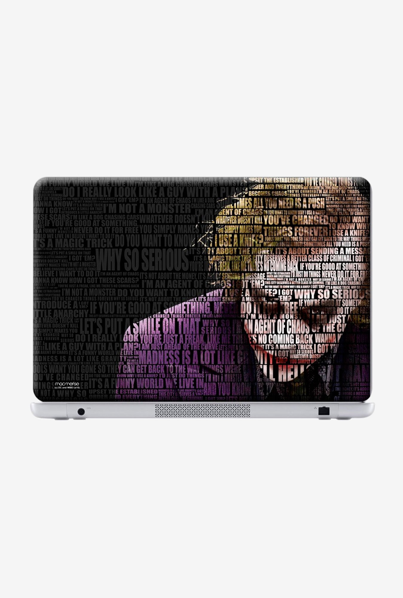 "Macmerise Joker Quotes Skin for 15"" Laptops"