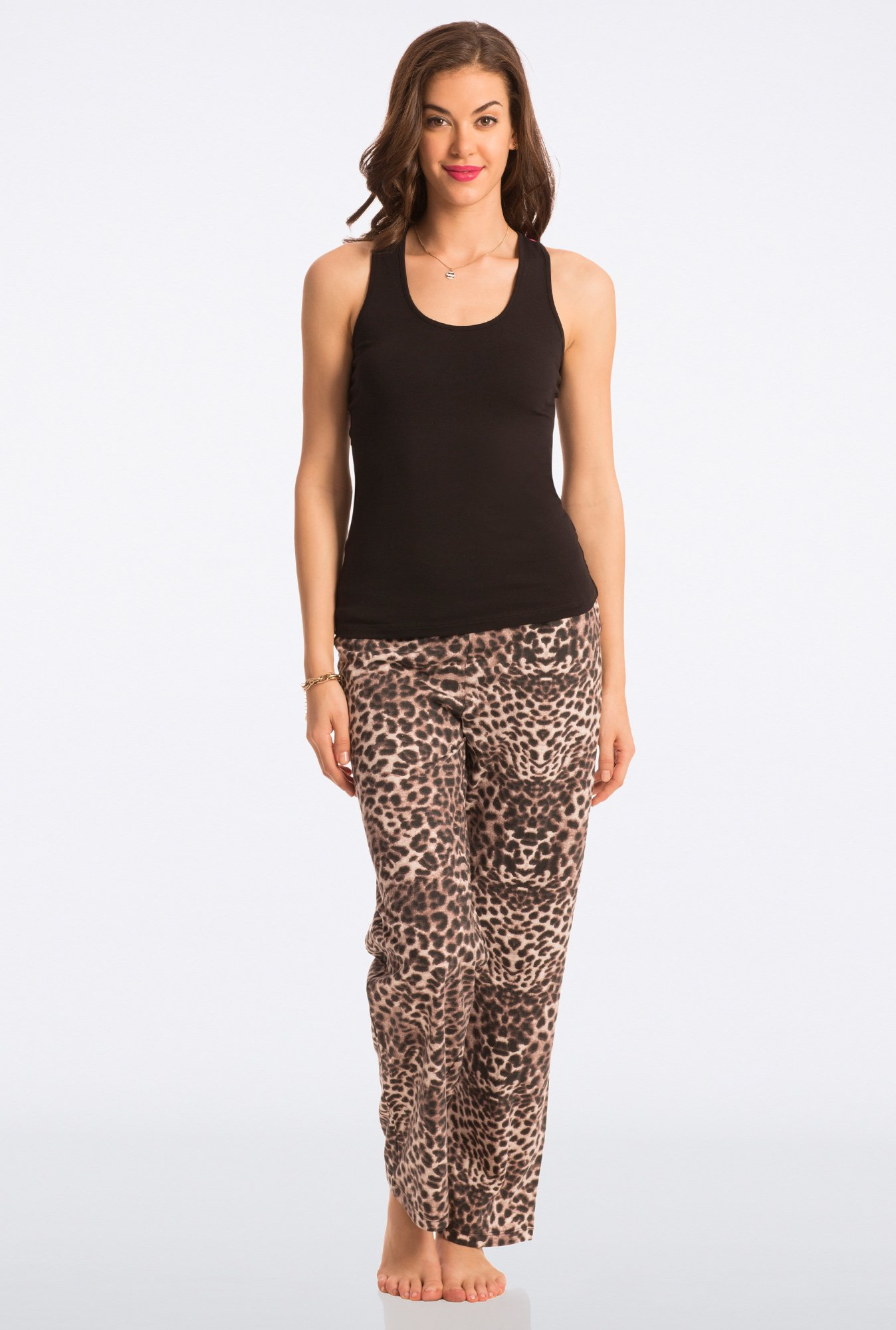 Pretty Secrets Black Animal Print Pyjama Set