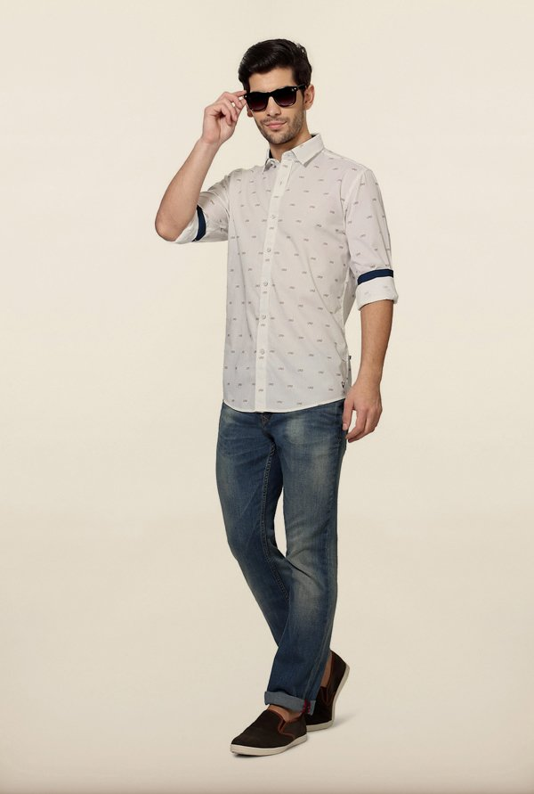 Allen Solly White Printed Shirt
