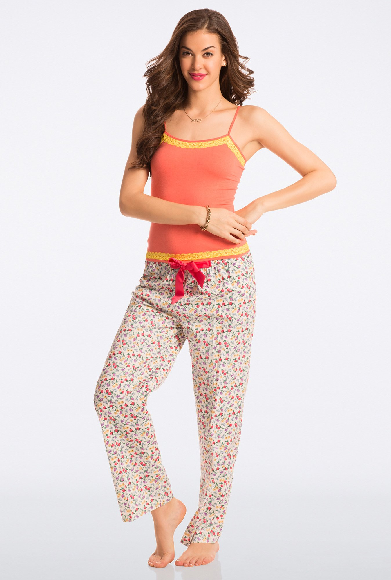 Pretty Secrets Off-White Floral Print Pyjama