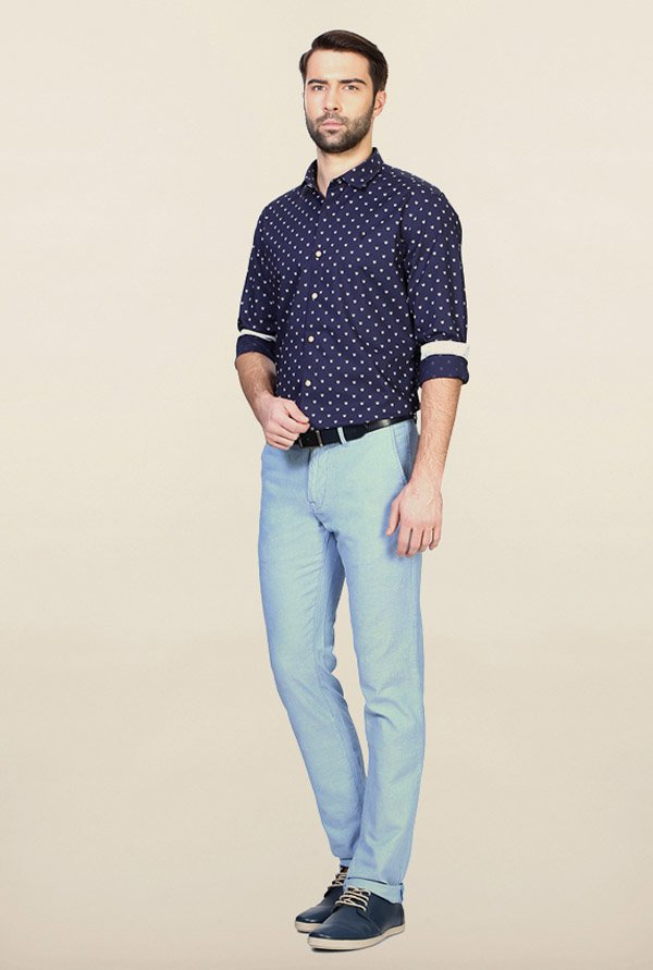 Allen Solly Navy Casual Shirt