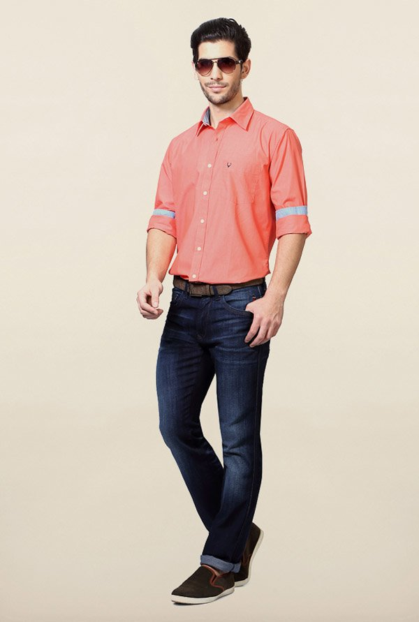 Allen Solly Coral Solid Shirt