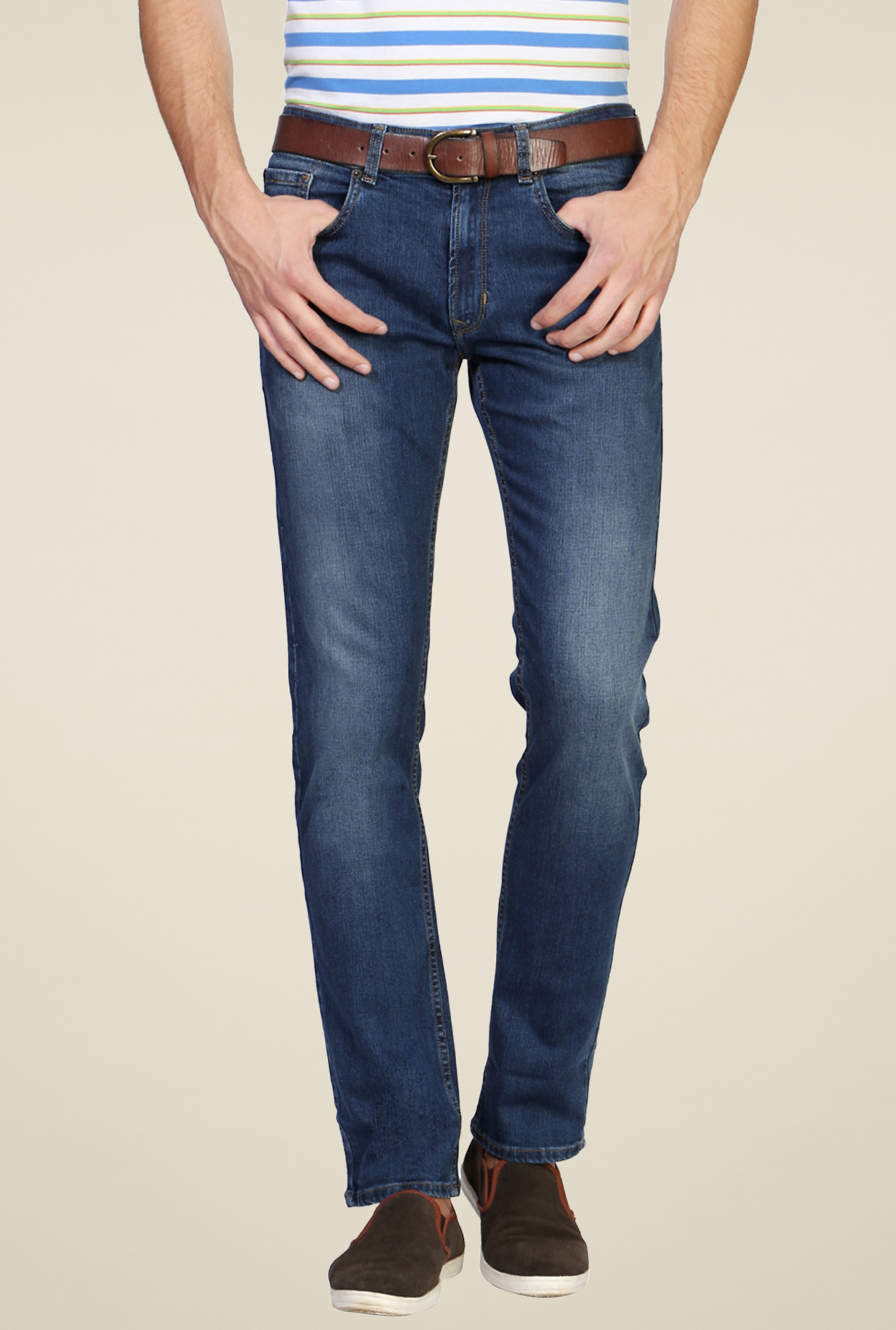 Peter England Blue Slim Fit Jeans