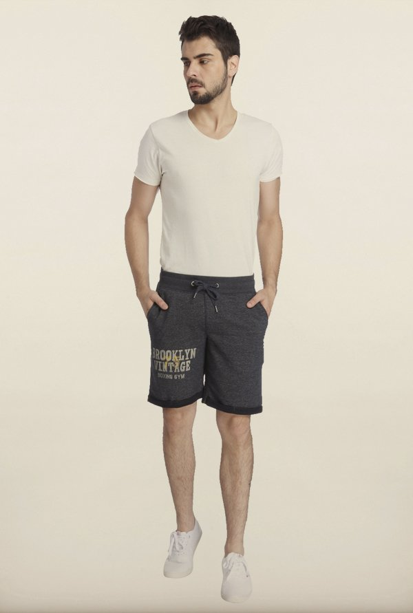 Jack & Jones Dark Grey Printed Sweatshorts