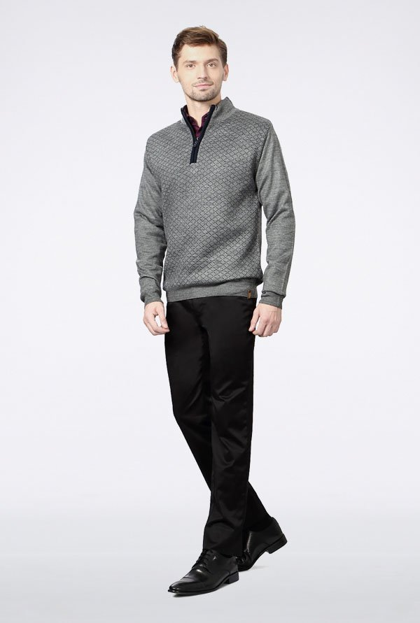 Peter England Grey Sweater