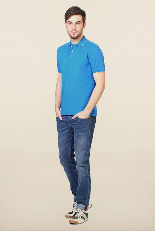 Allen Solly Light Blue Wimbledon Polo T-Shirt